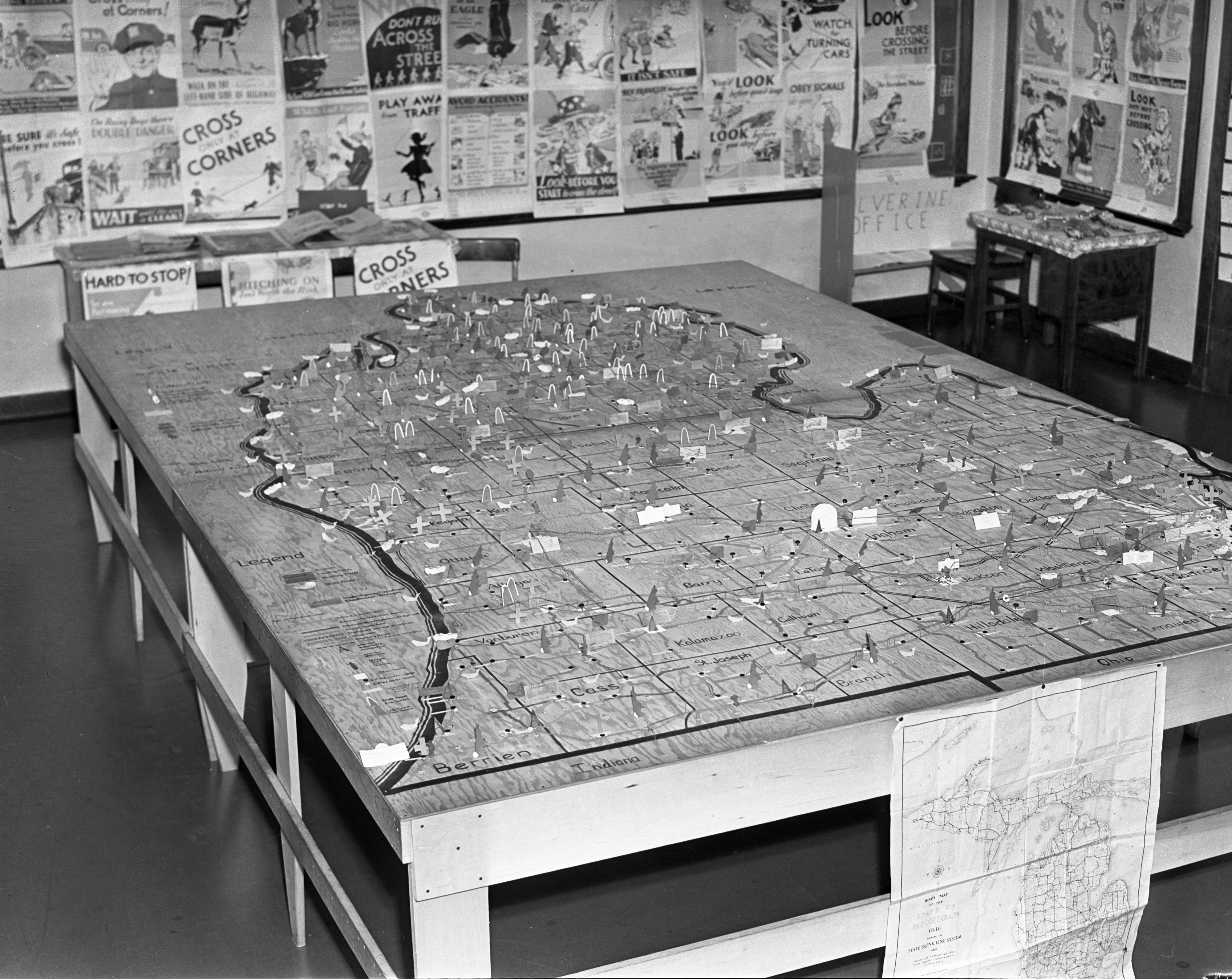 University of Michigan Elementary School Sixth Grade Michigan Map Project, February 1938 image
