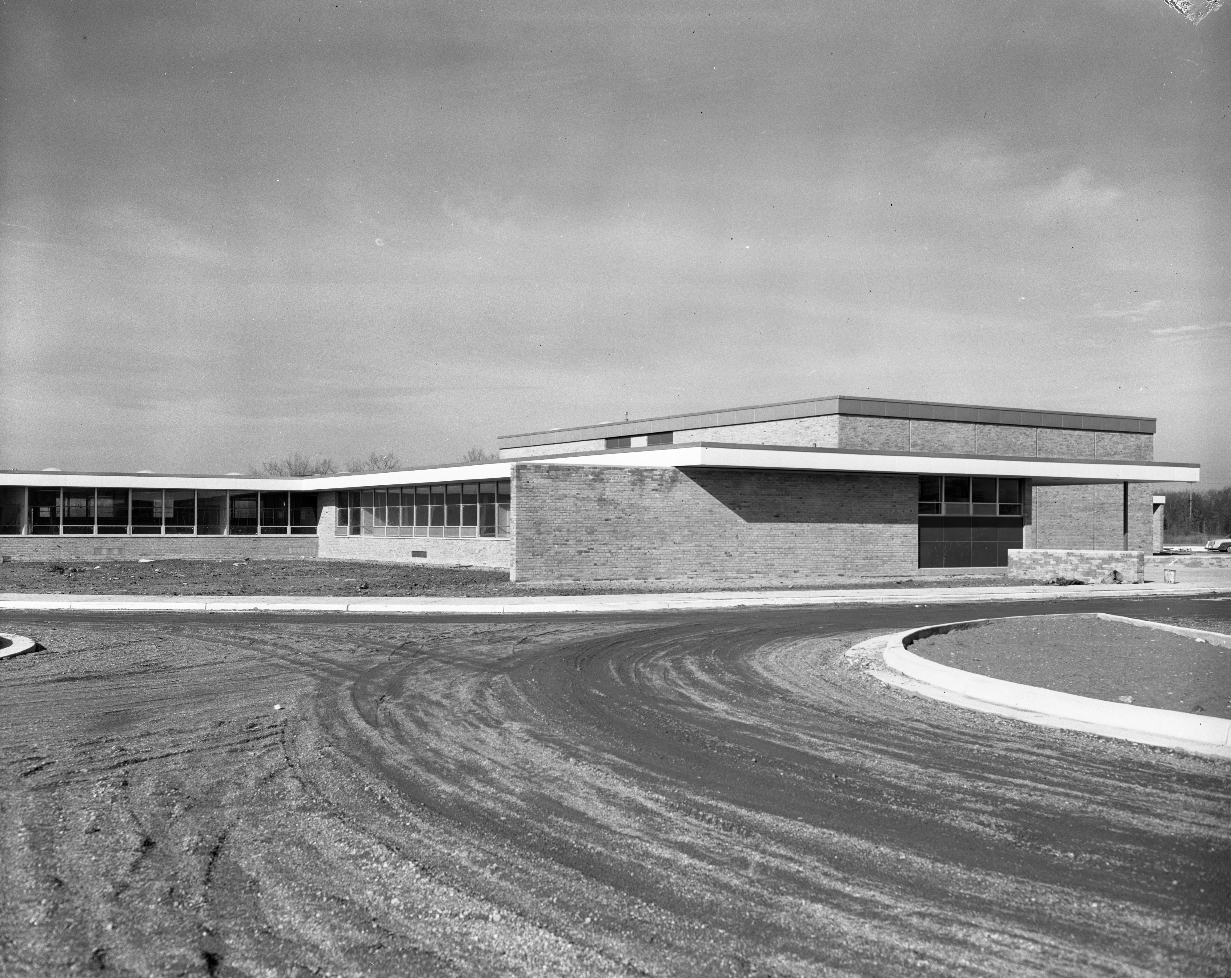 Nearly Completed Wines Elementary School On Newport Road, March 1957 image