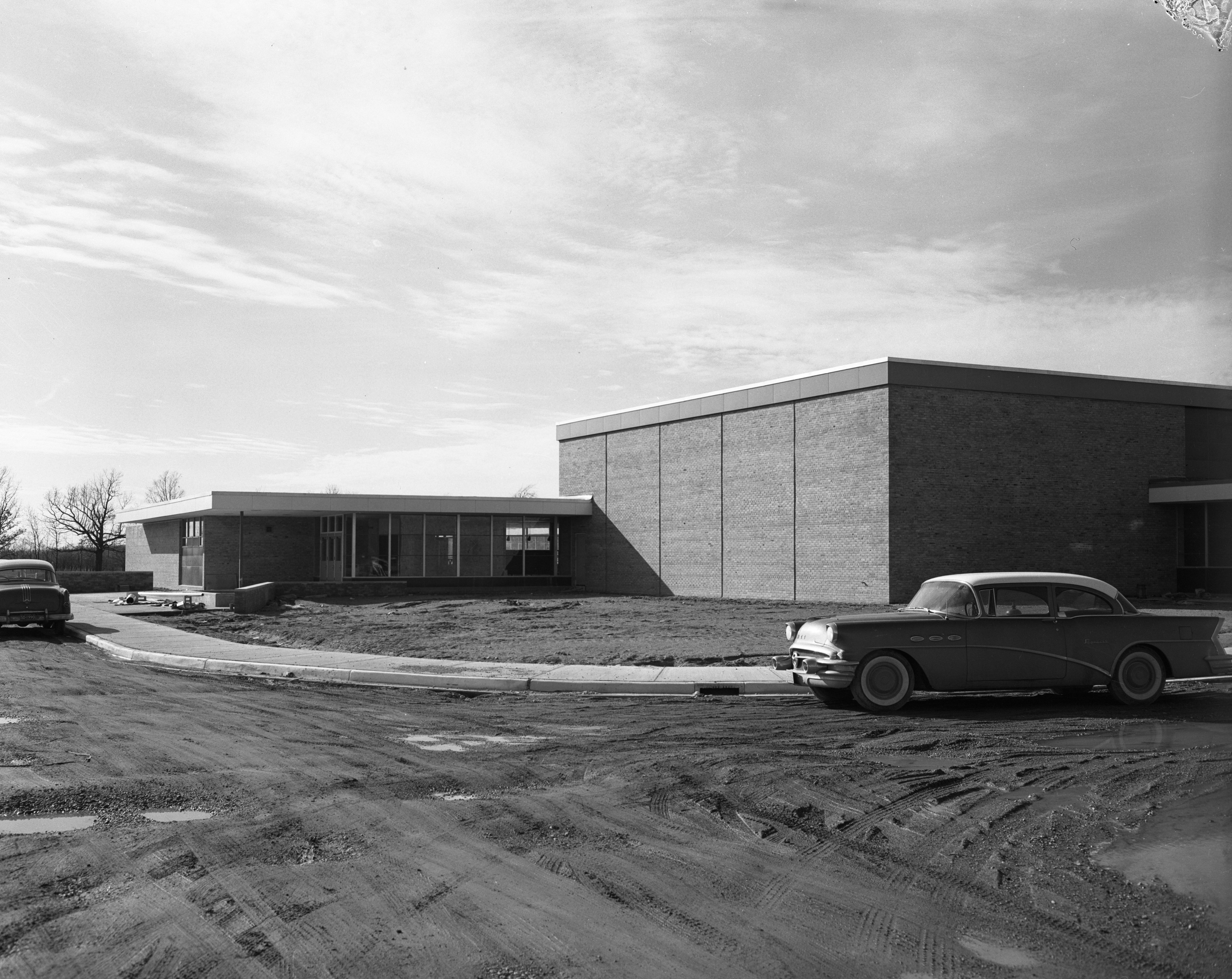 New Wines Elementary School On Newport Road Nearly Completed, March 1957 image