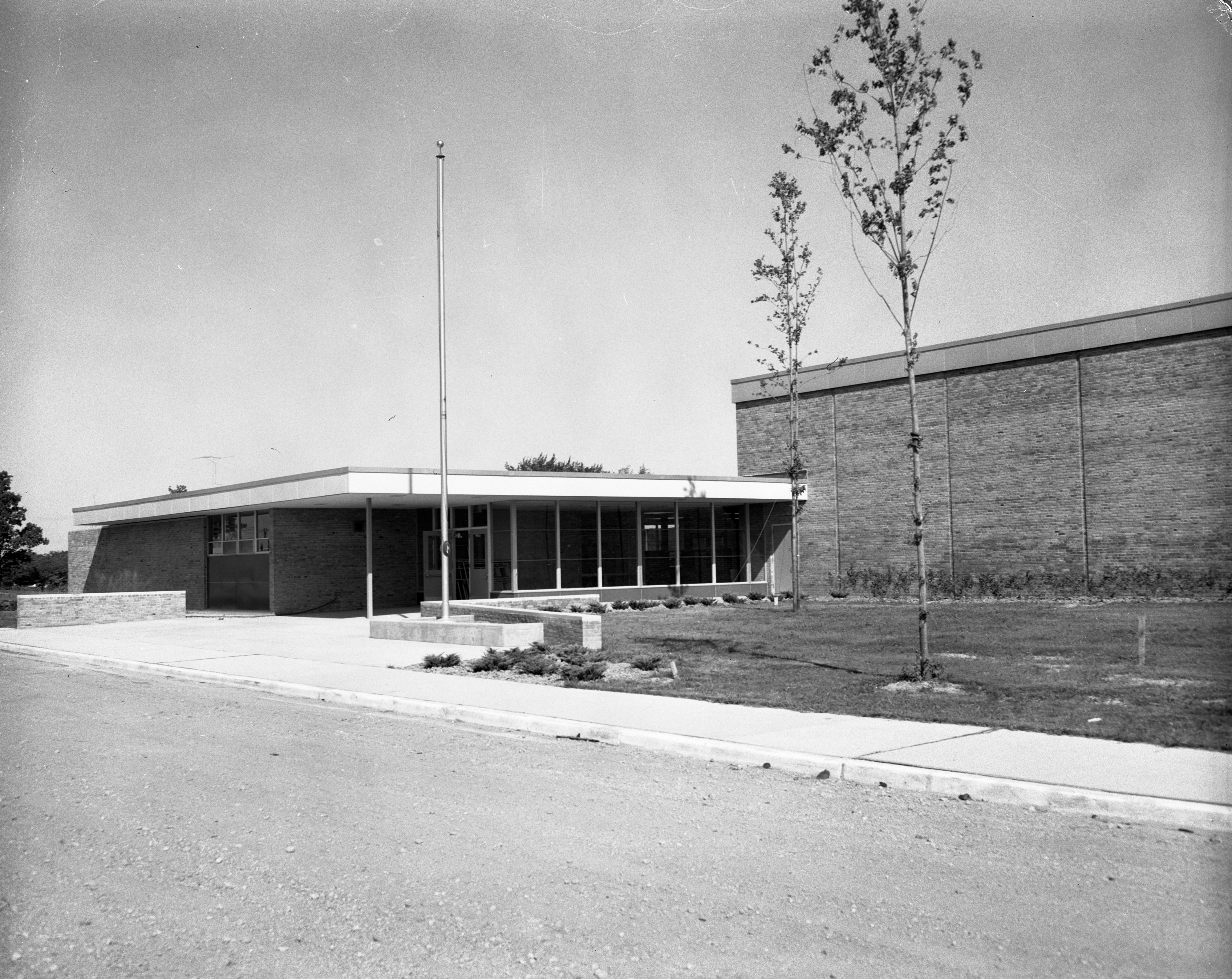 New Wines Elementary School On Newport Road, August 1957 image