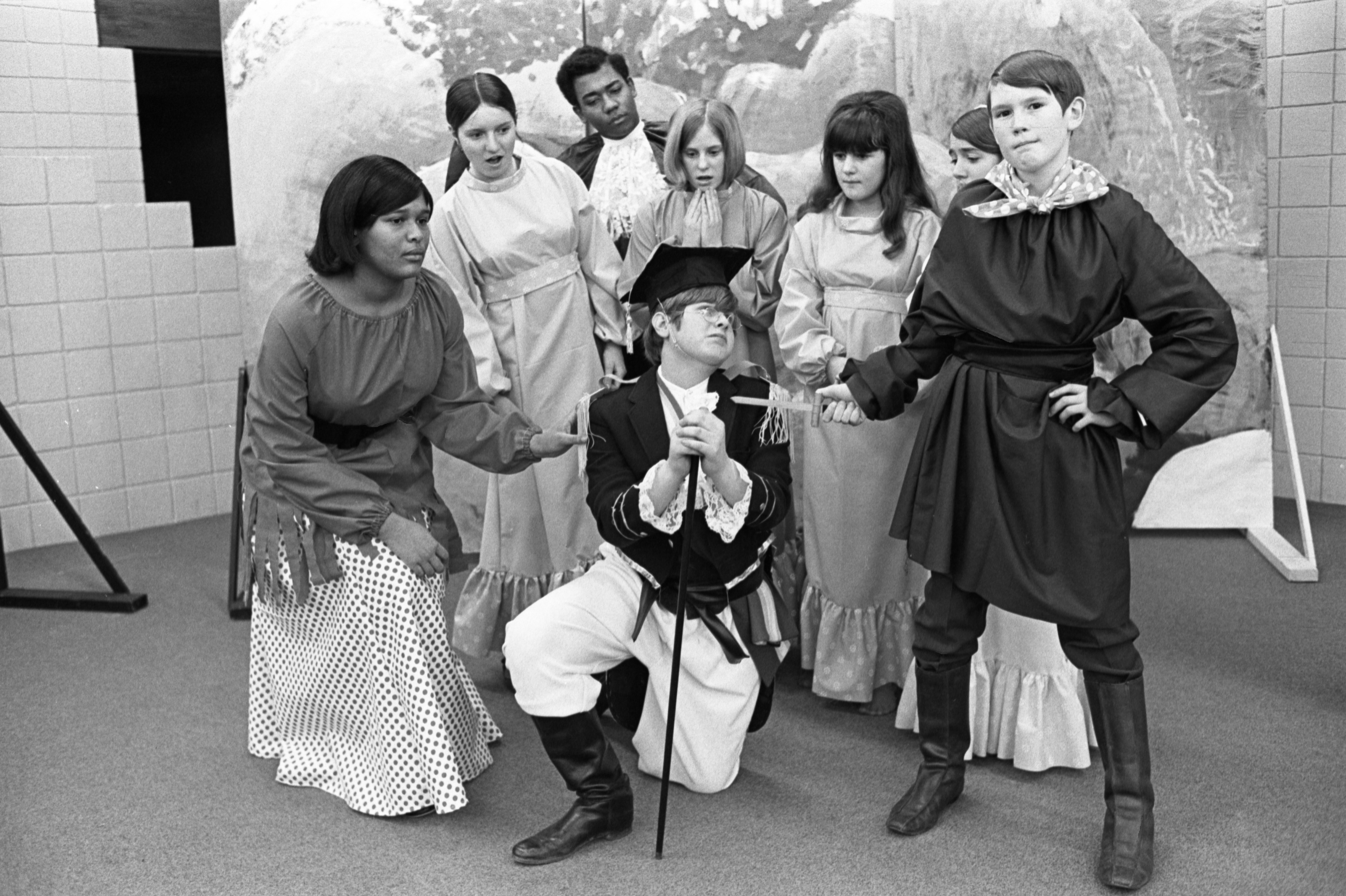 Greenhills Students Practice For The Play, 'Pirates of Penzance', March 22, 1970 image