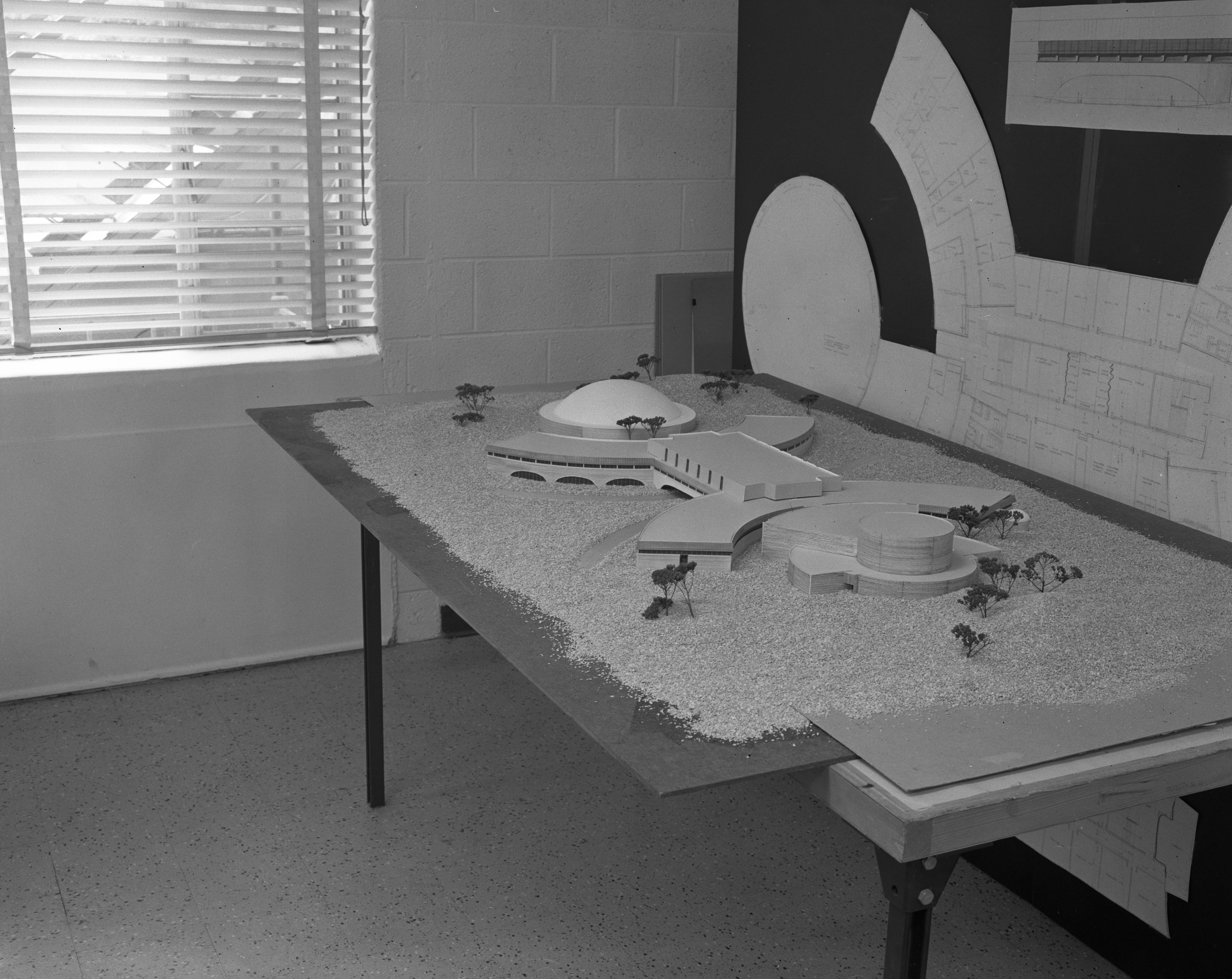 Model of Huron High School, November 1965 image