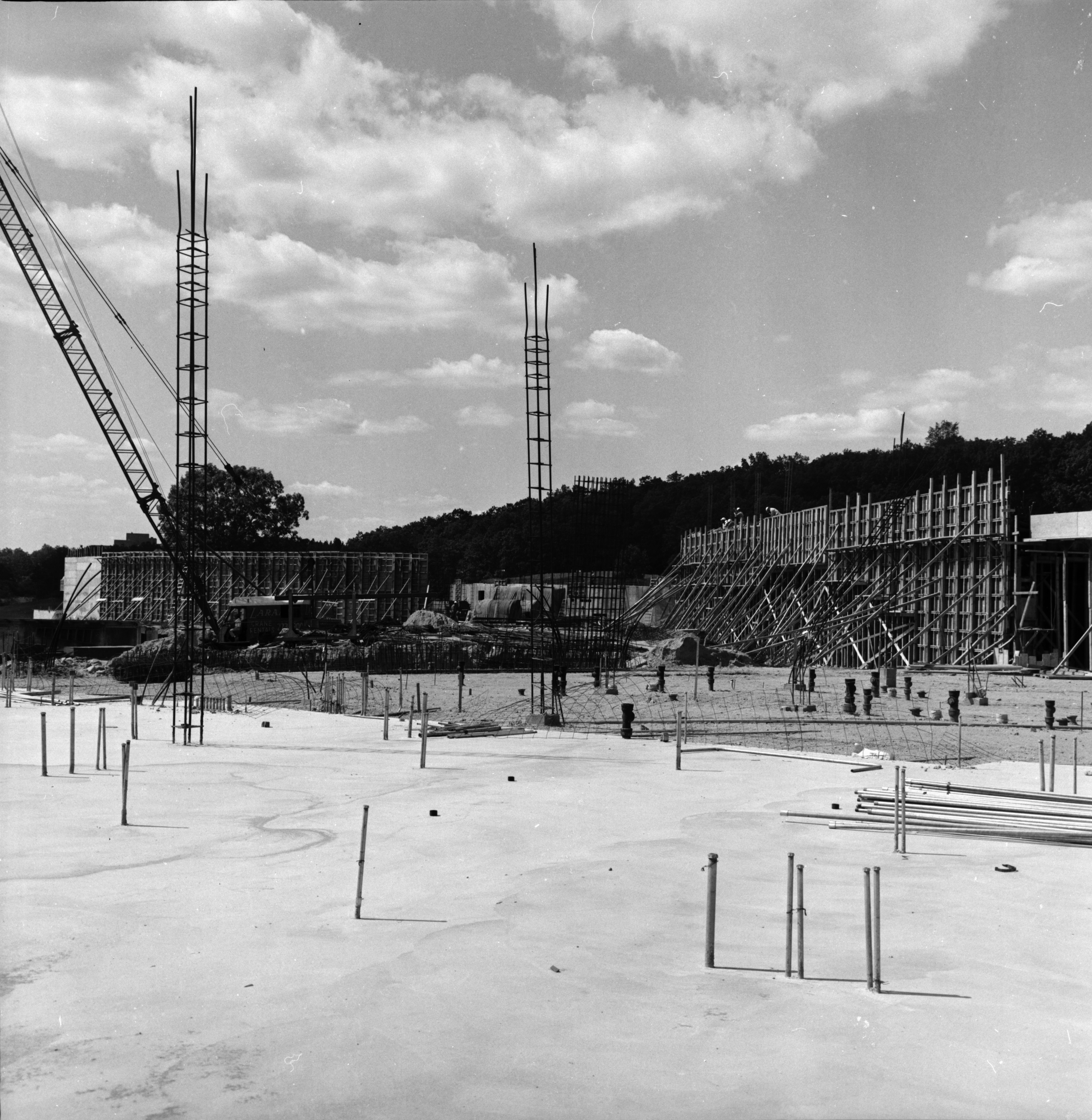 Huron High School Construction, August 1967 image