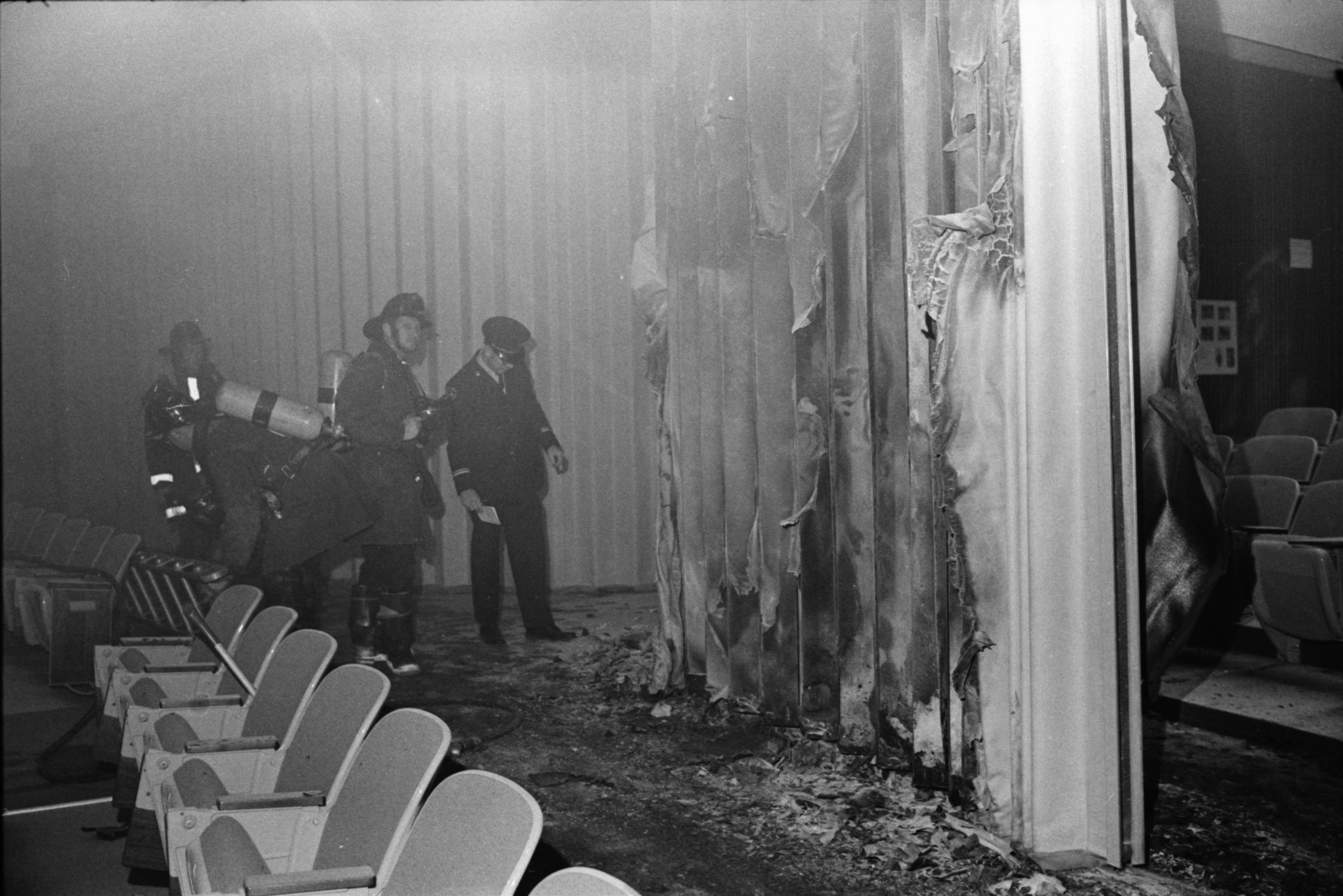 Arson Fire in Auditorium at Huron High School, November 1972 image