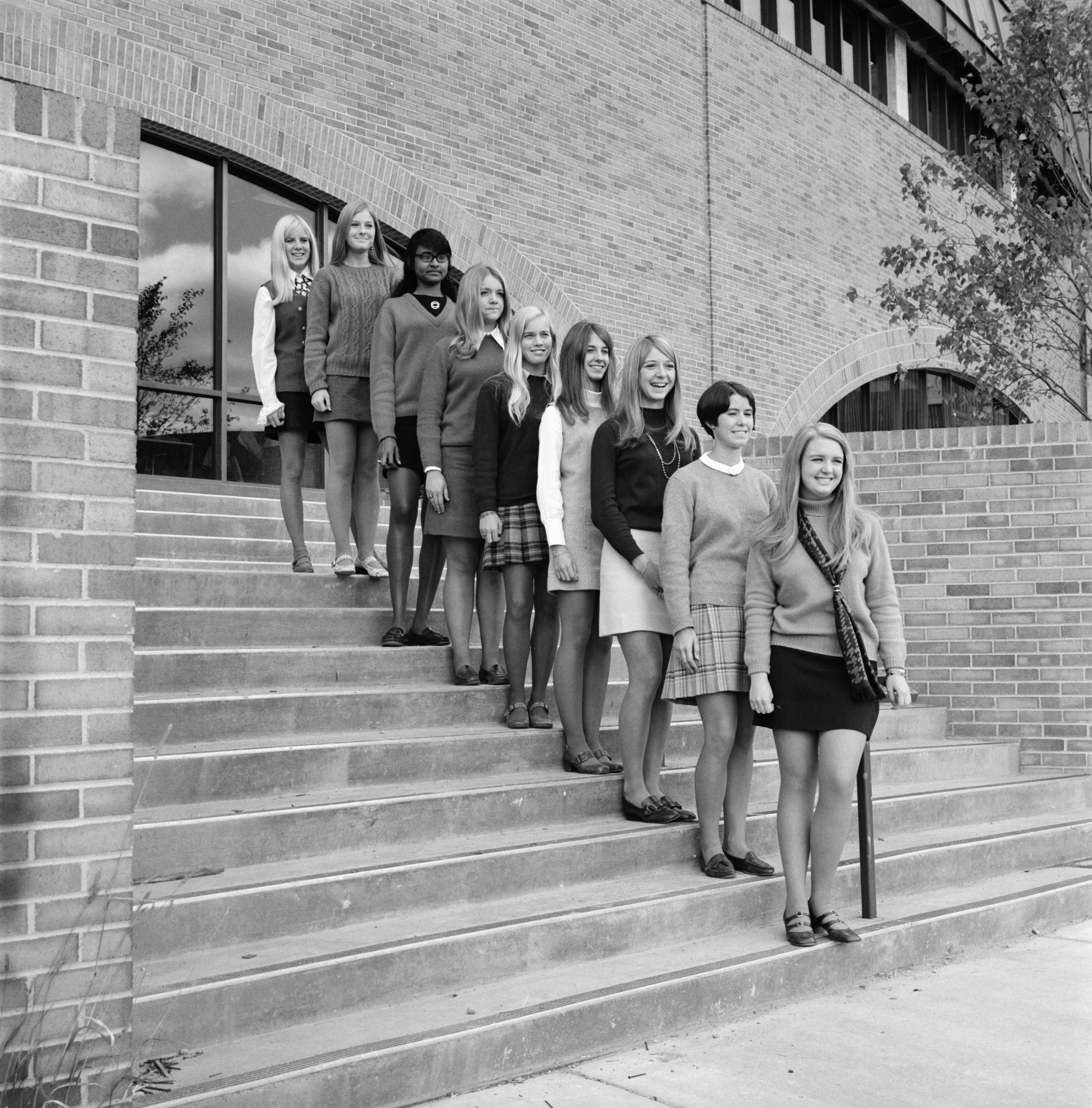 Huron High's Homecoming Queen Candidates, October 1969 image
