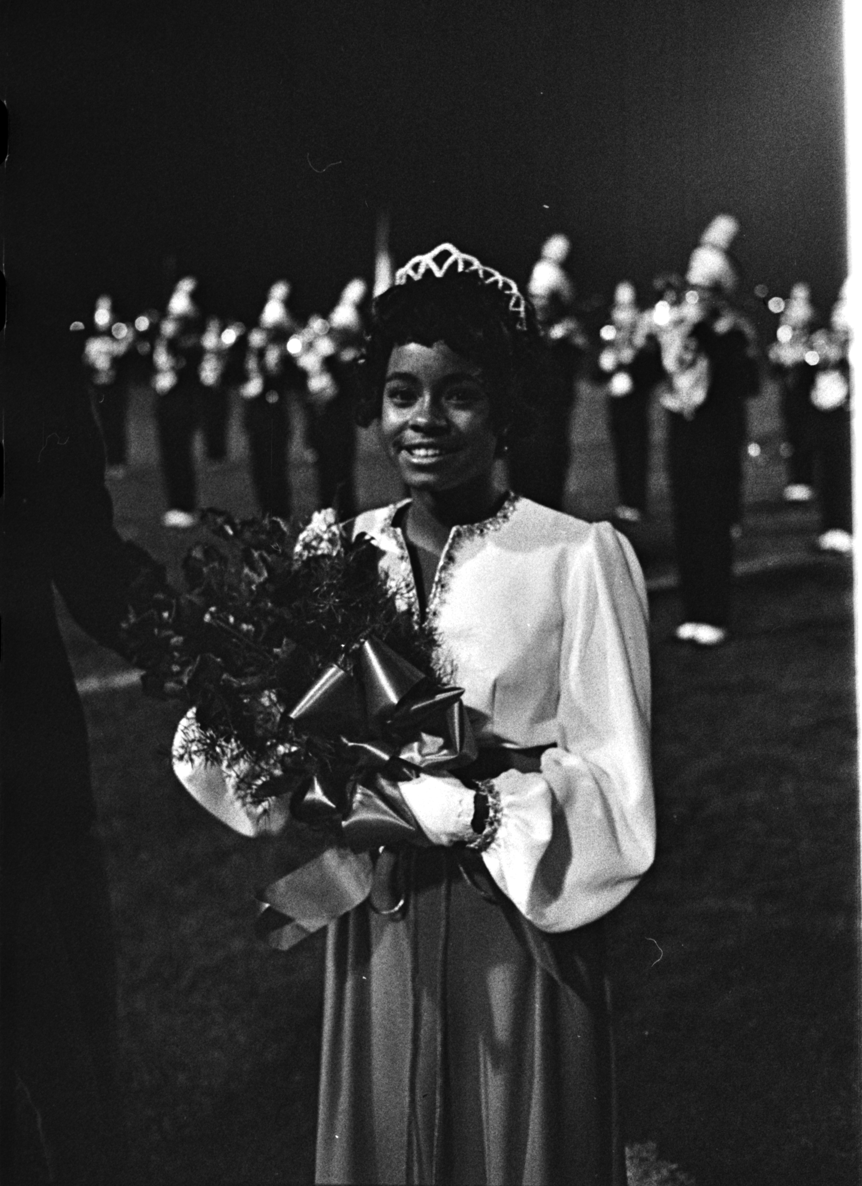 Image from Huron High School's Homecoming Queen, Cherie Lockett, October 1971