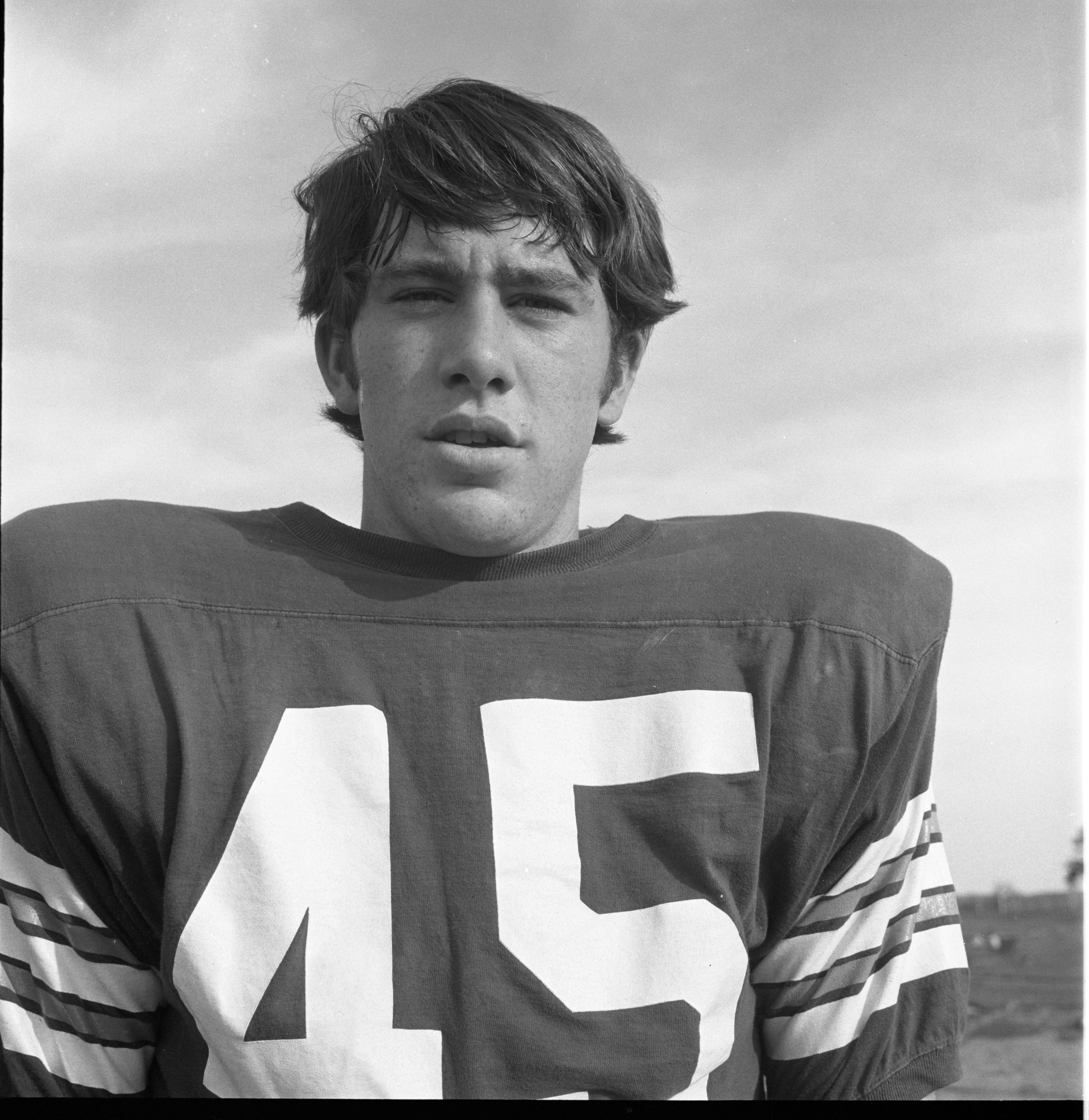 Mark Sayers - Huron High School Football Team, October 1970 image