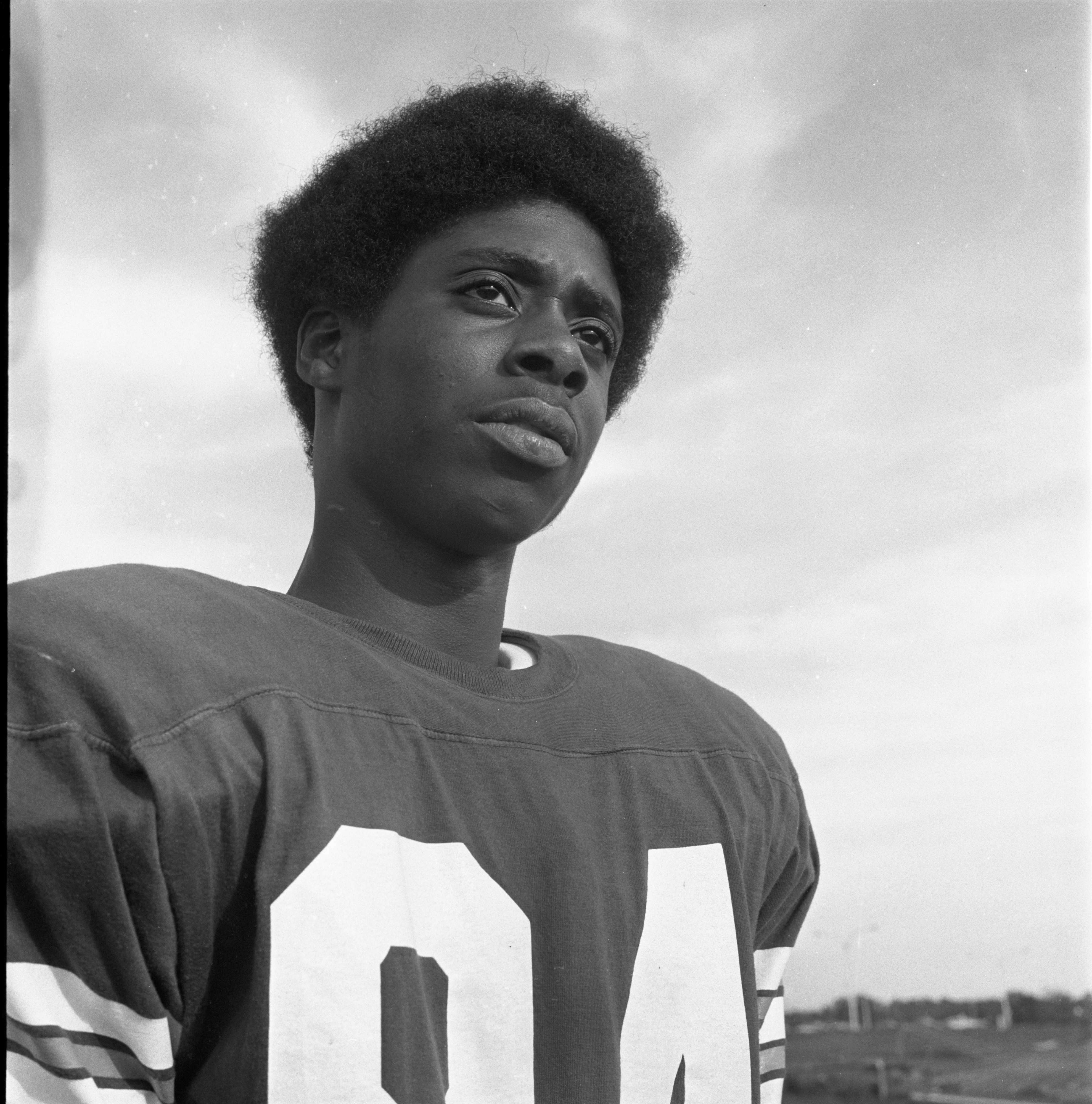 Jerry Collins - Wide Receiver, Huron High School Football Team, October 1970 image