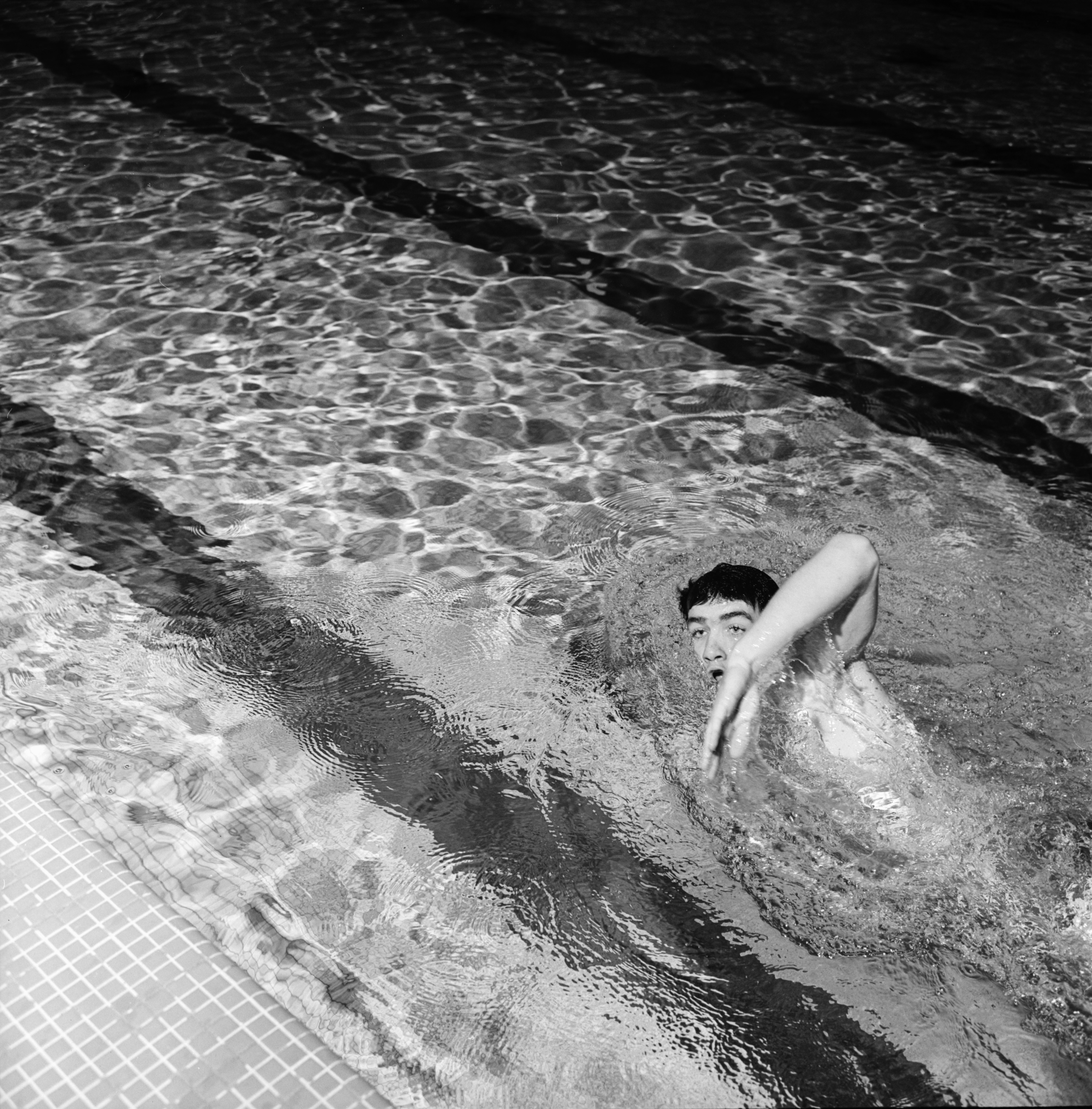 Peter Daly, Huron High School swimming star, January 1970 image