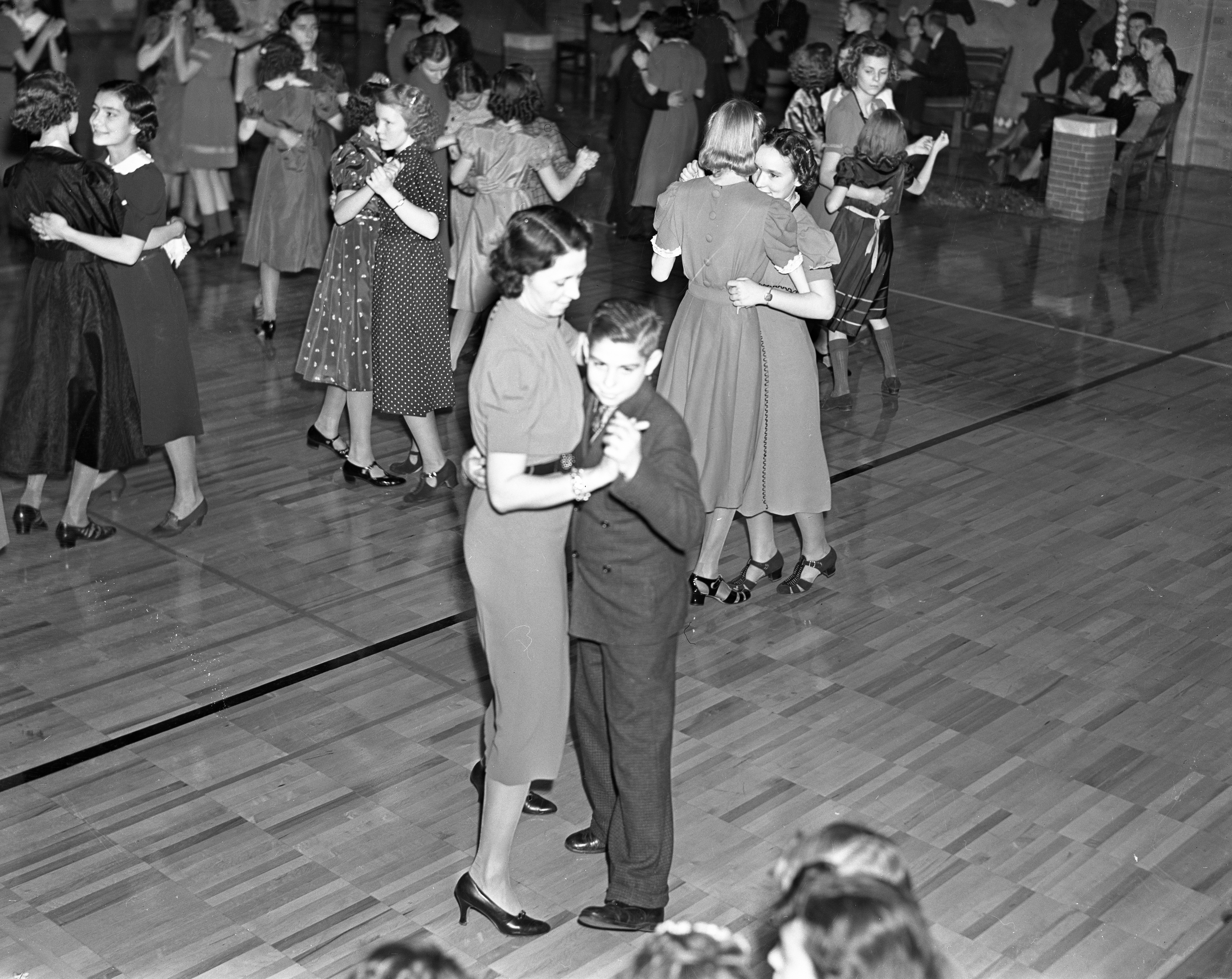 Slauson School Holiday Dance, December 1937 image