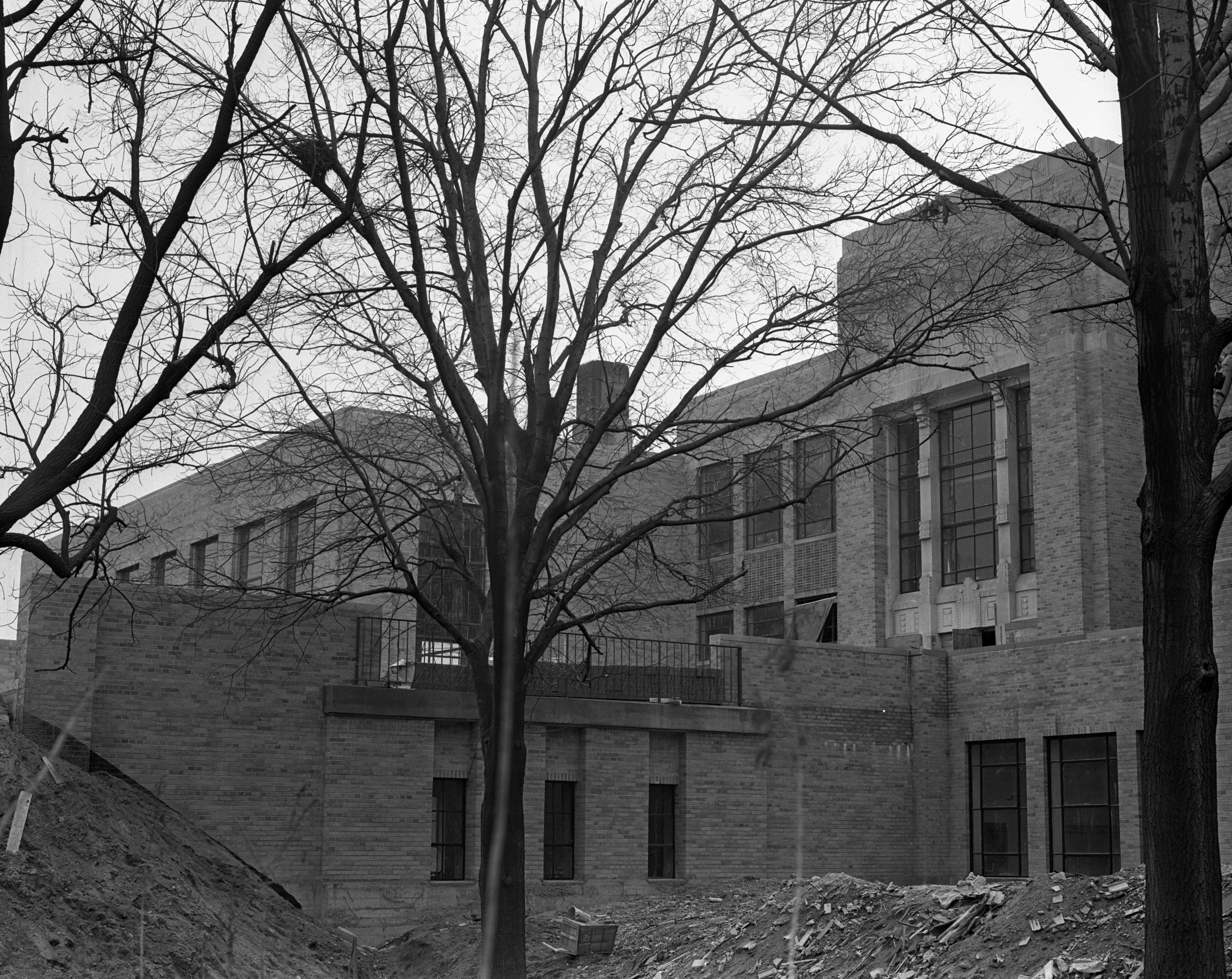 Slauson School Nears Completion, April 1937 image