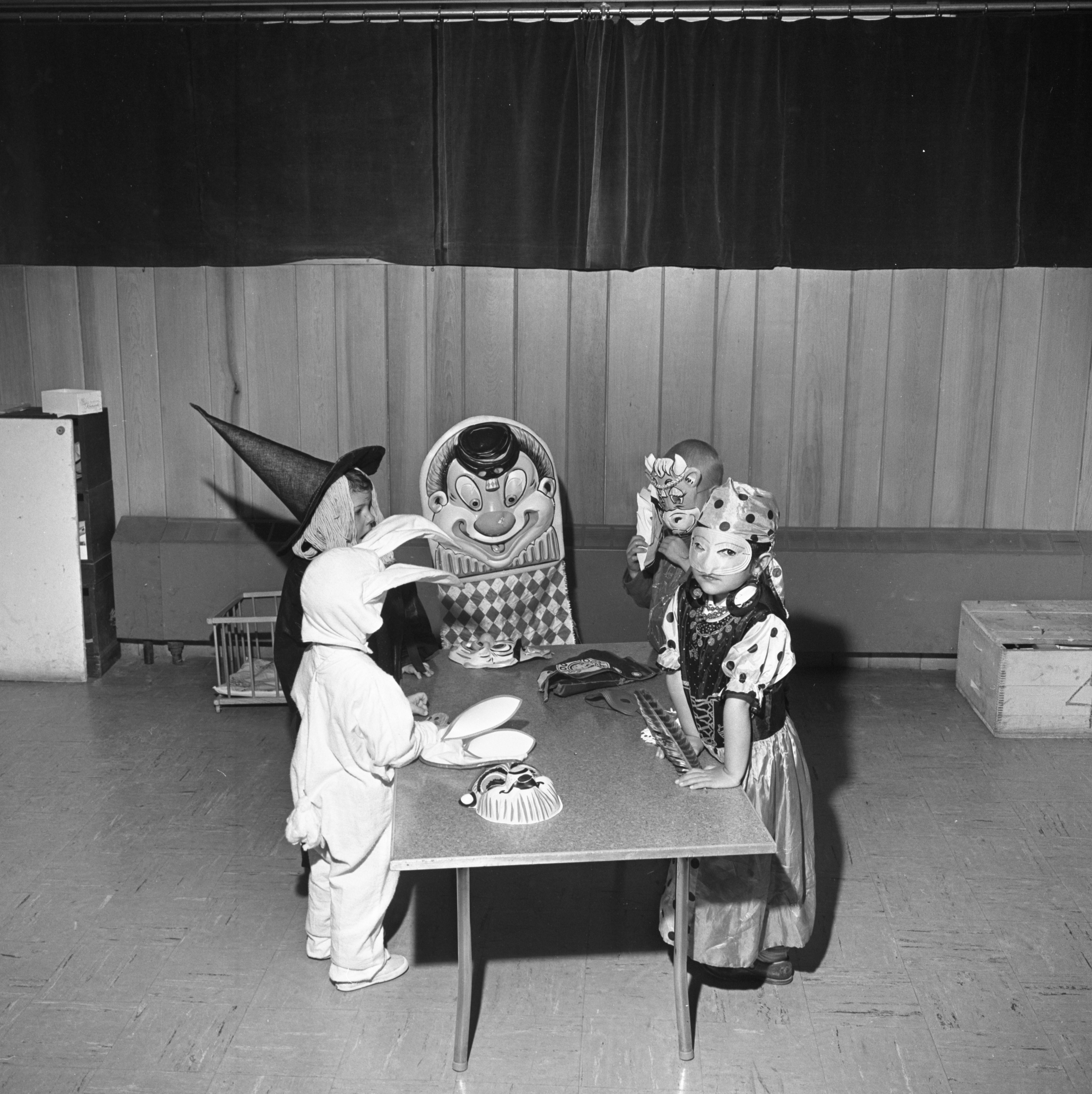 Children At Arbor Way Nursery School Celebrate Halloween, October 1961 image