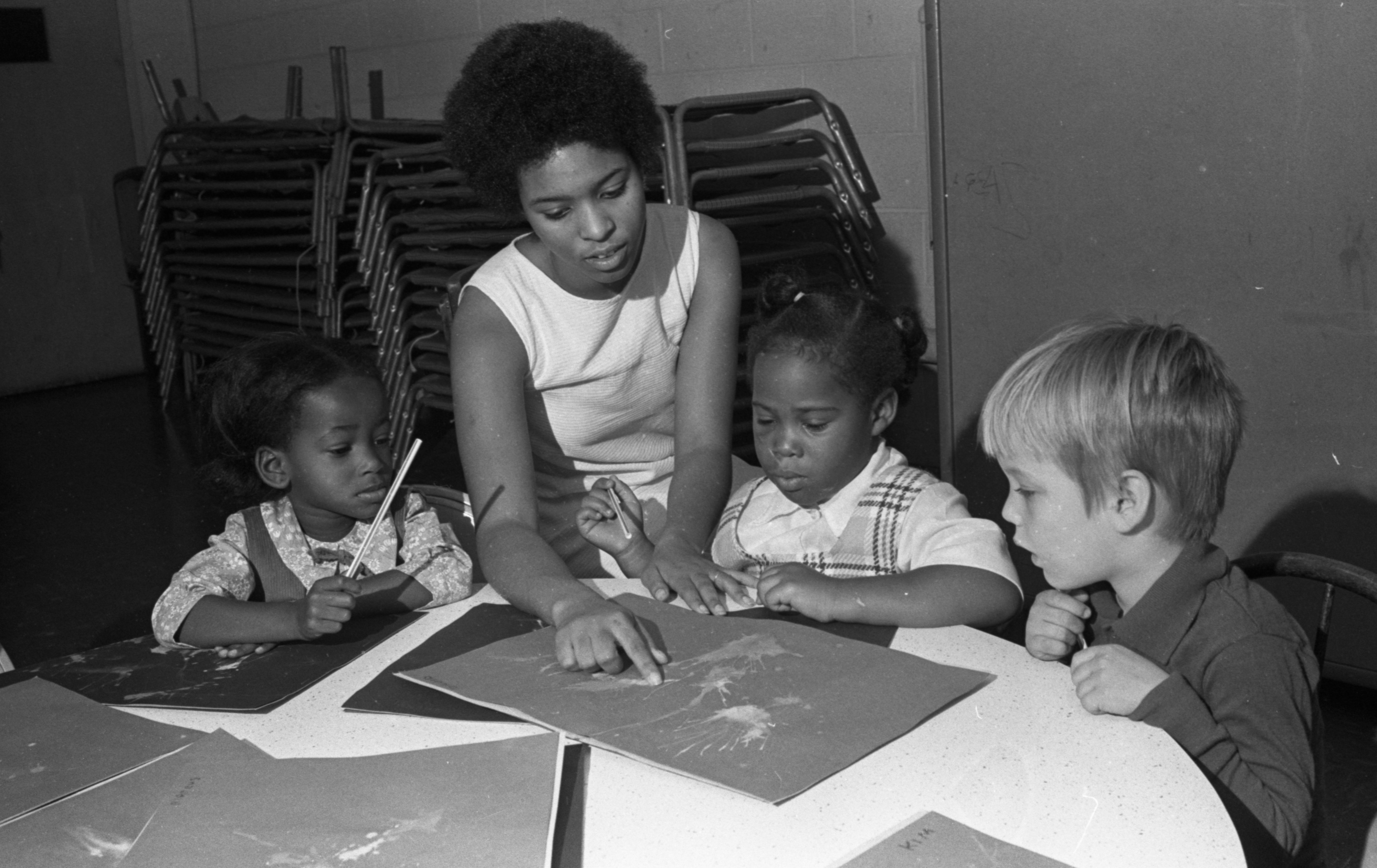 Second Baptist Church Day Care Center Children Create Artwork, November 1971 image