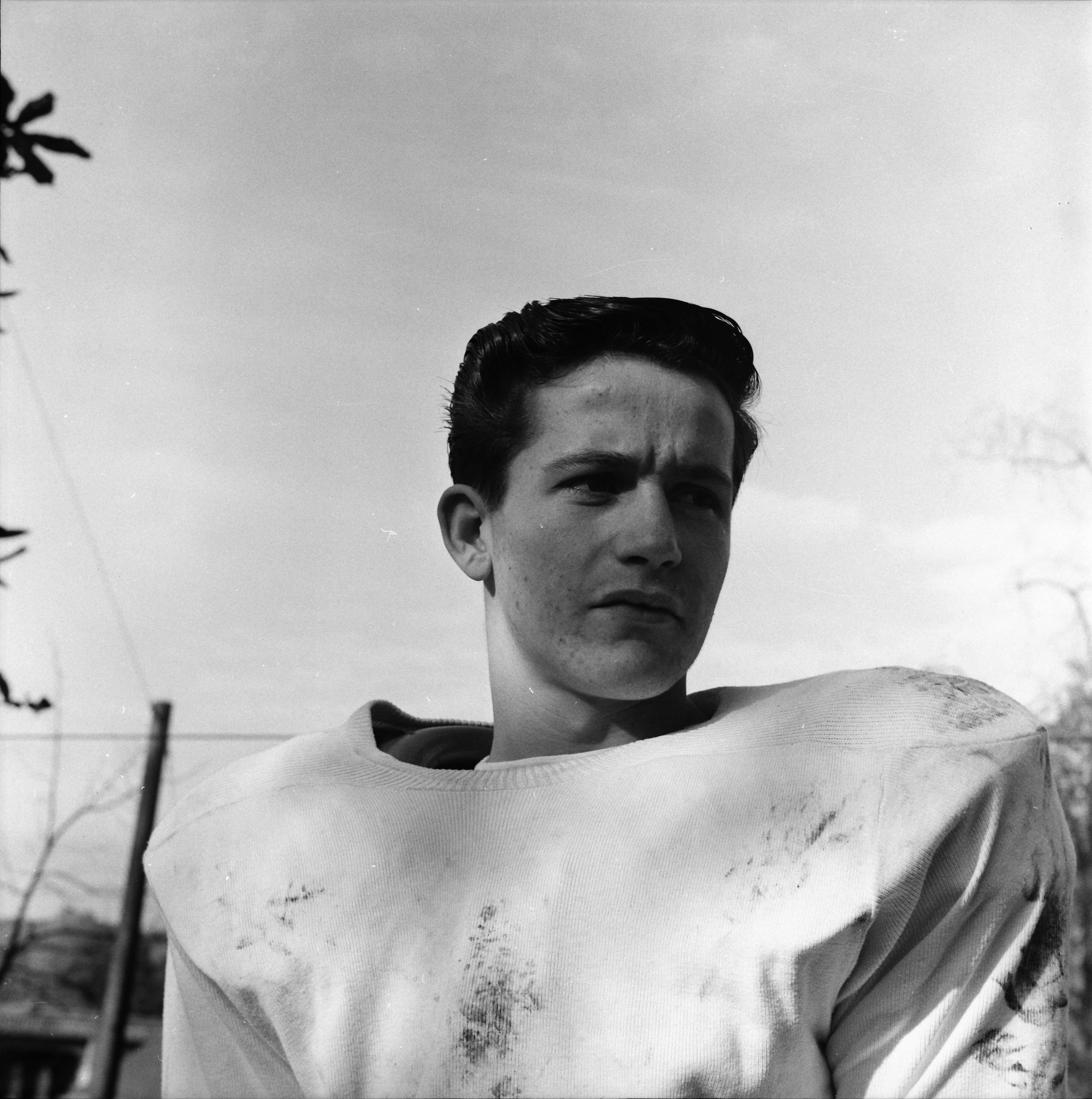 Francis O'Donnell, St. Thomas High School Football Player, Will Be In Battle With Dearborn Sacred Heart, September 1959 image