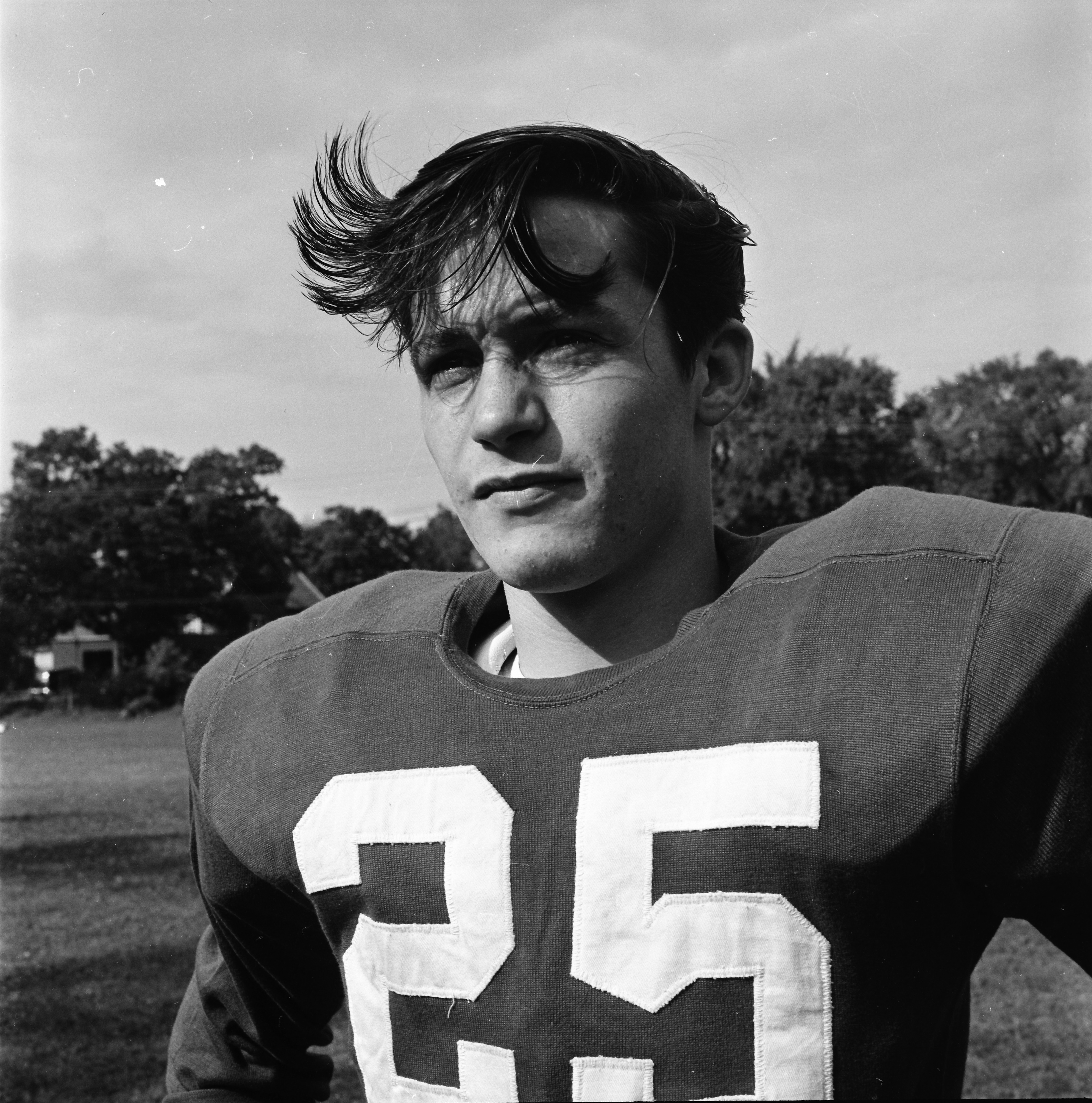 Francis O'Donnell, St. Thomas High School Football Player, Will Be In Fight With Redford St. Agatha, October 1960 image