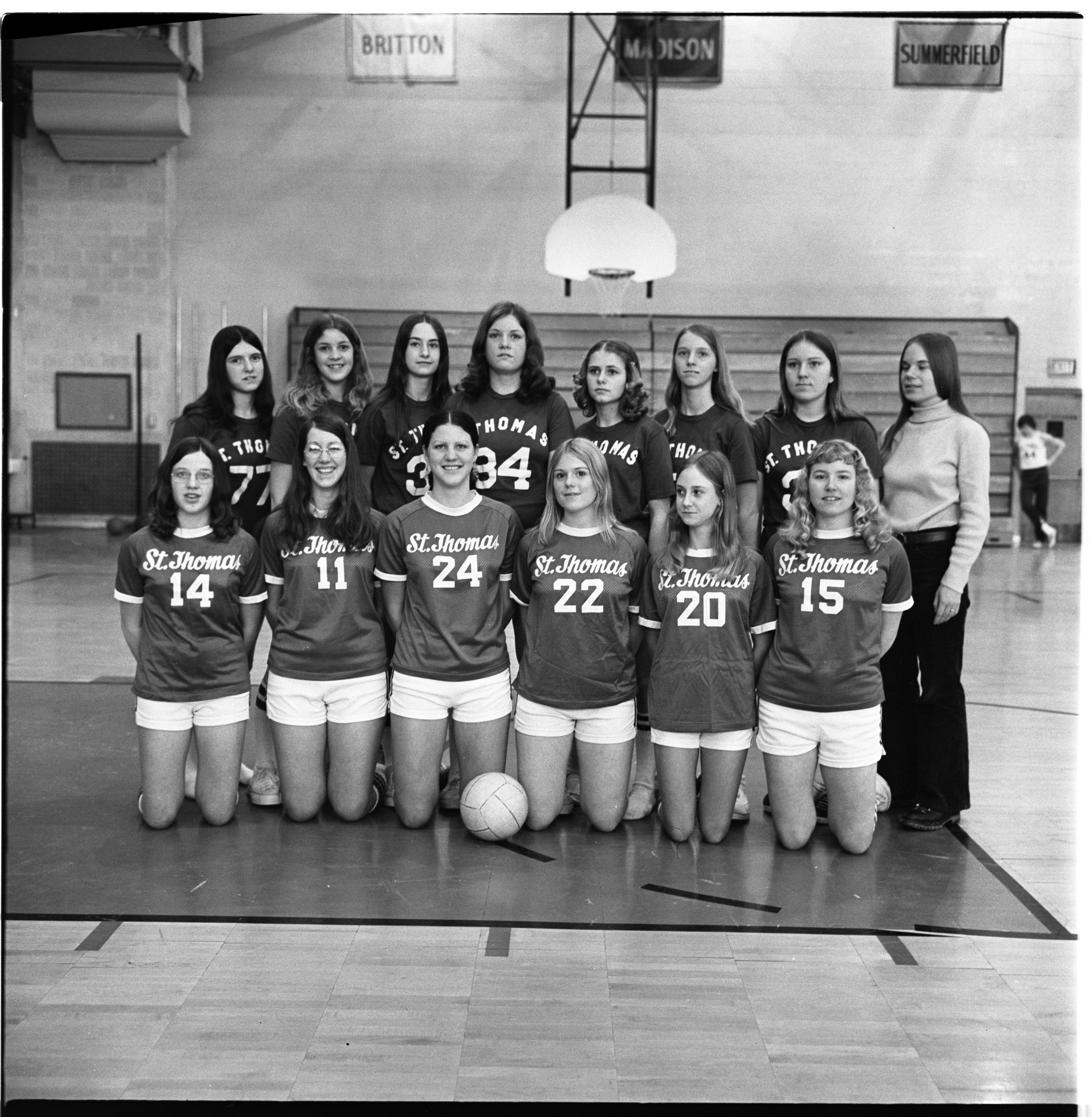 St. Thomas Girls' Volleyball Team, March 1974 image