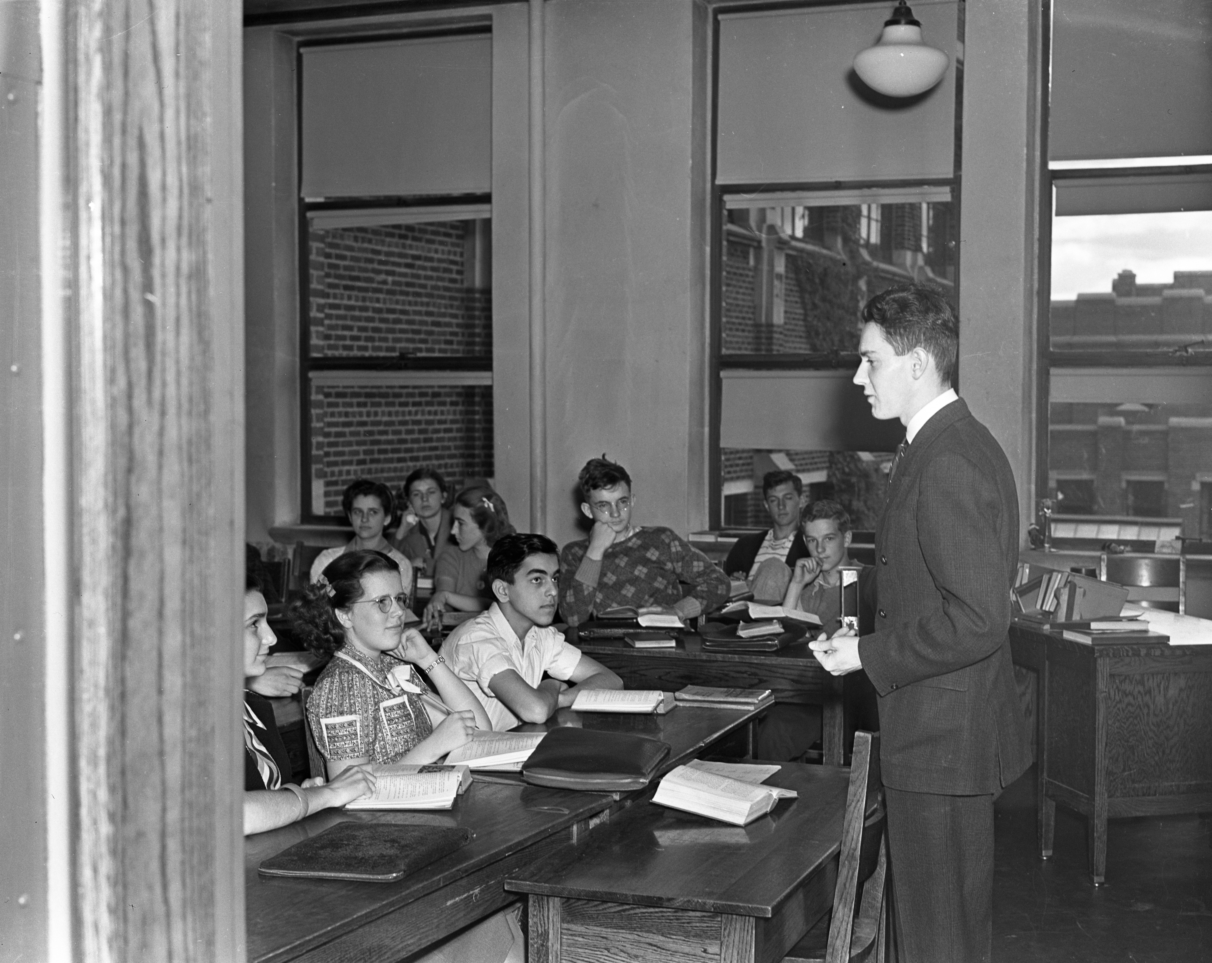 University High School's Teacherless Day, 1938 image