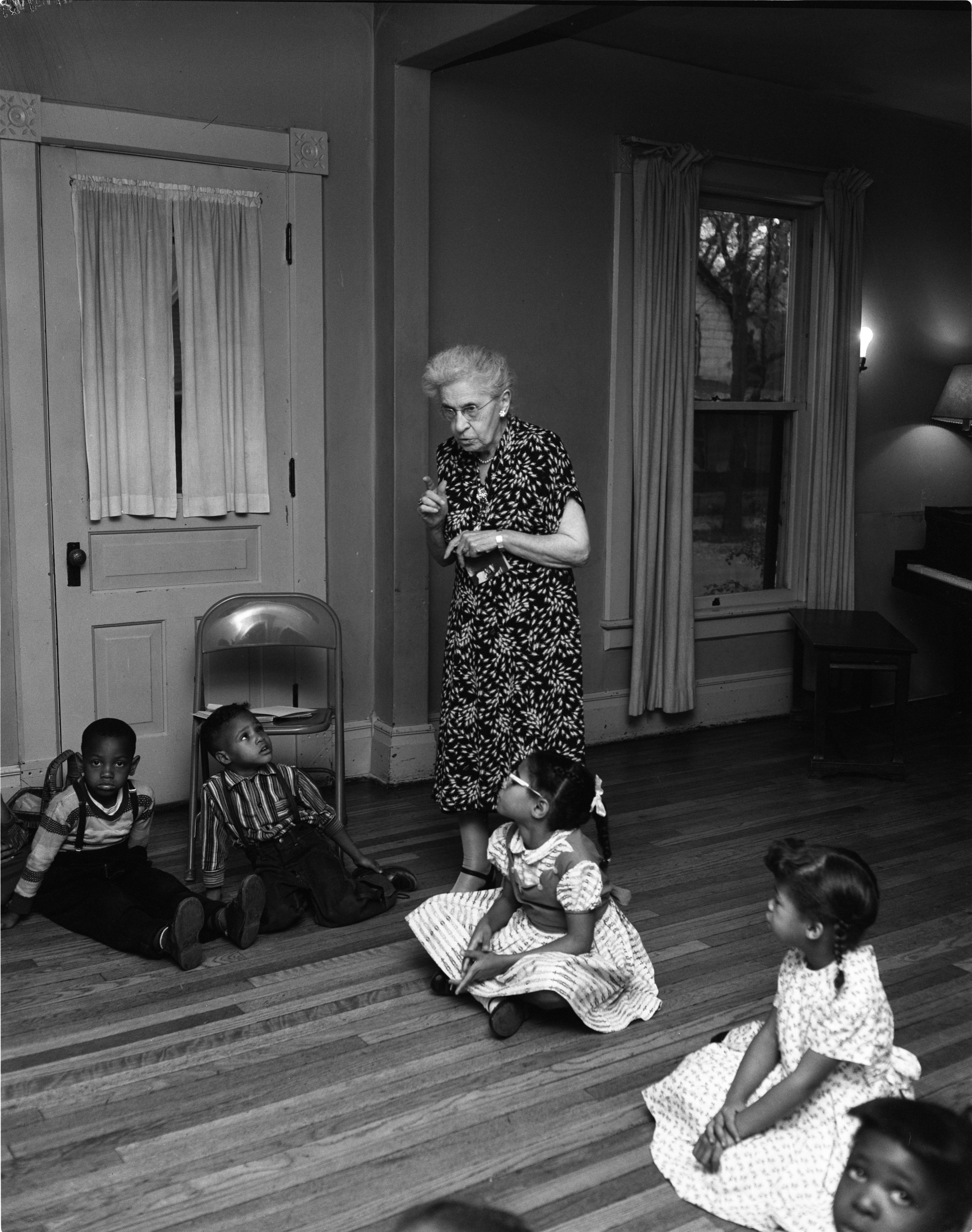 Story Time At The Dunbar Community Center With Miss Ada B. Hill, October 25, 1958 image