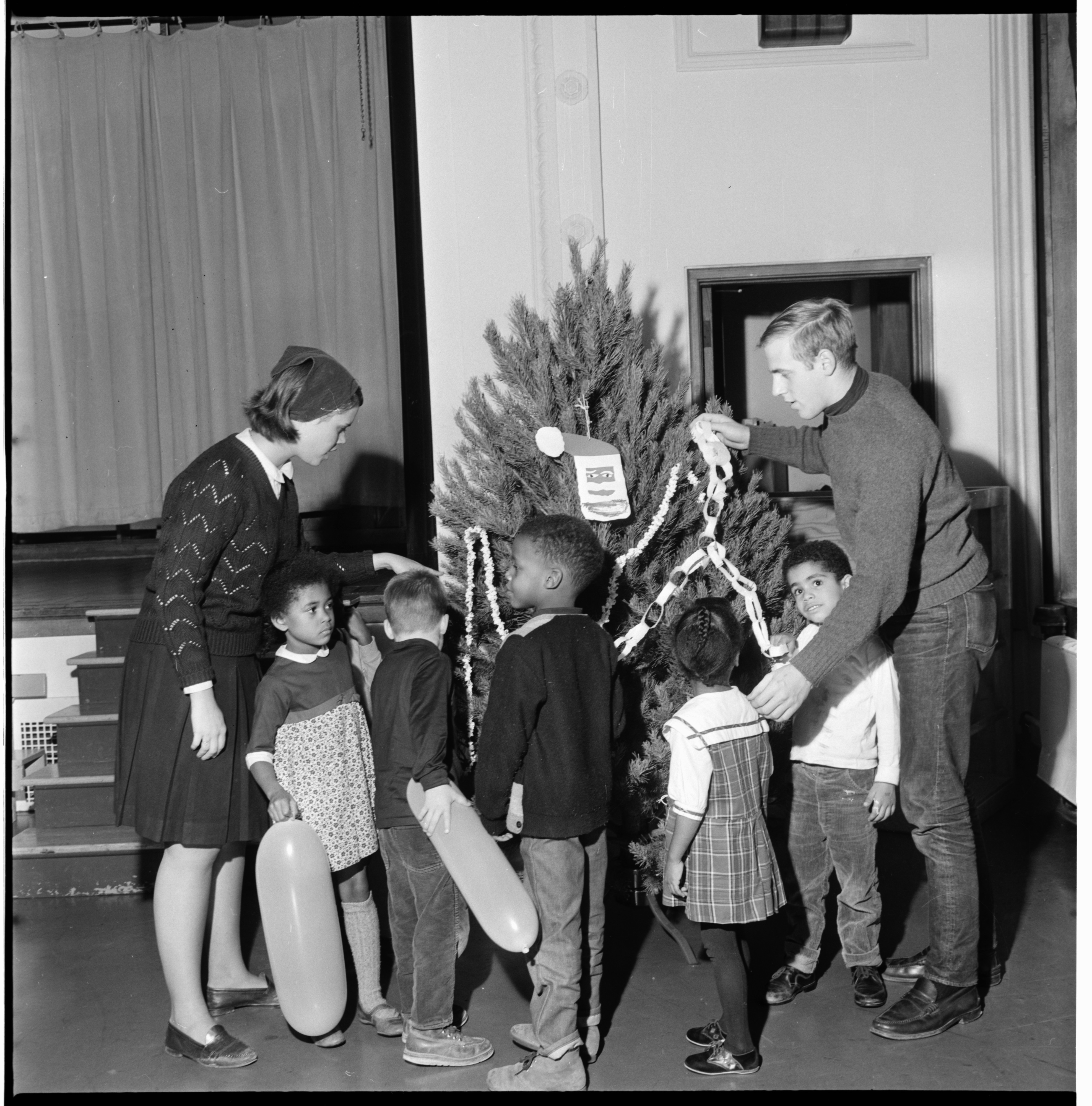 Headstart Program Hosts Christmas Party at Jones School, December 1966 image