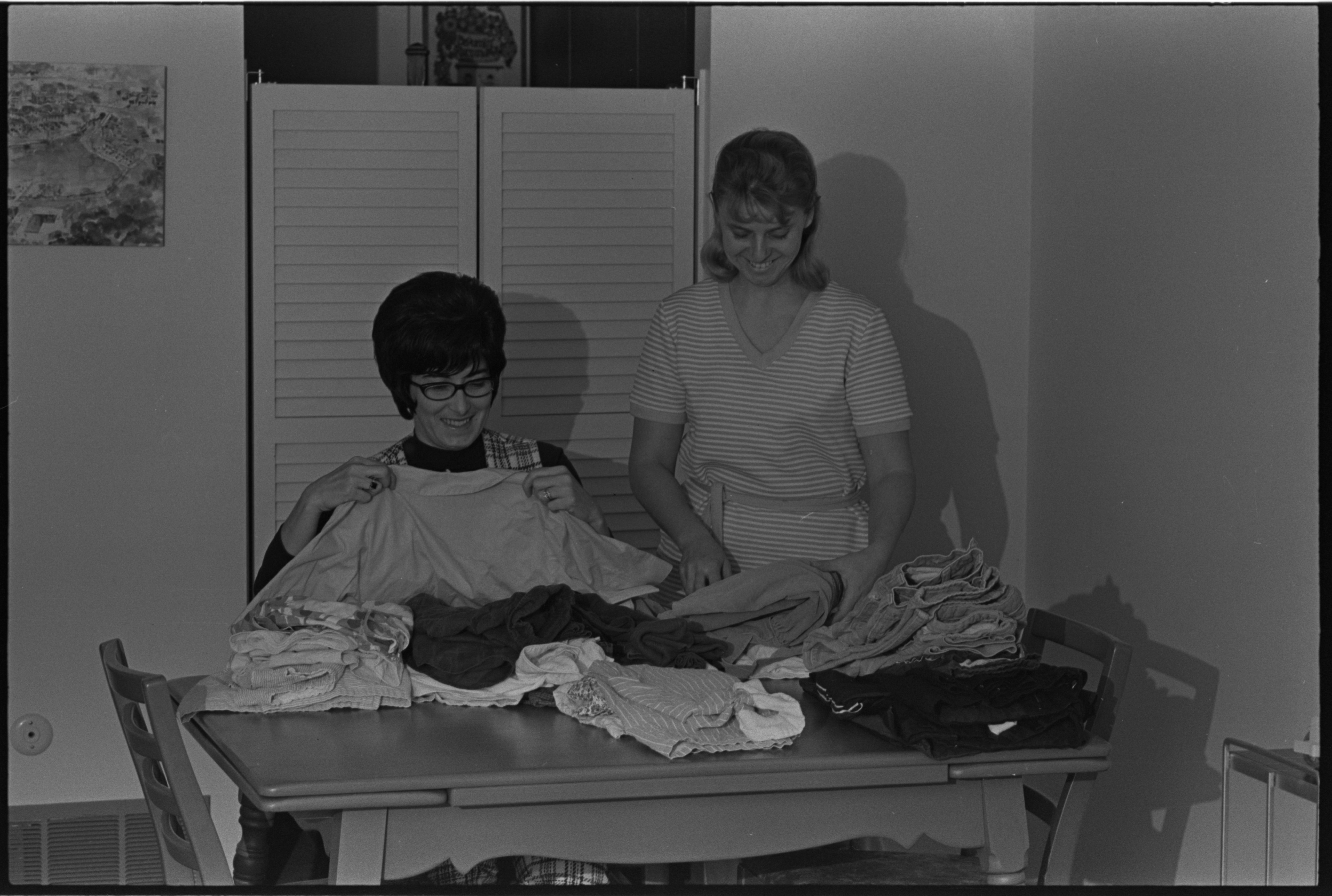 Sorting Donations For The House By The Side Of The Road, January 1971 image