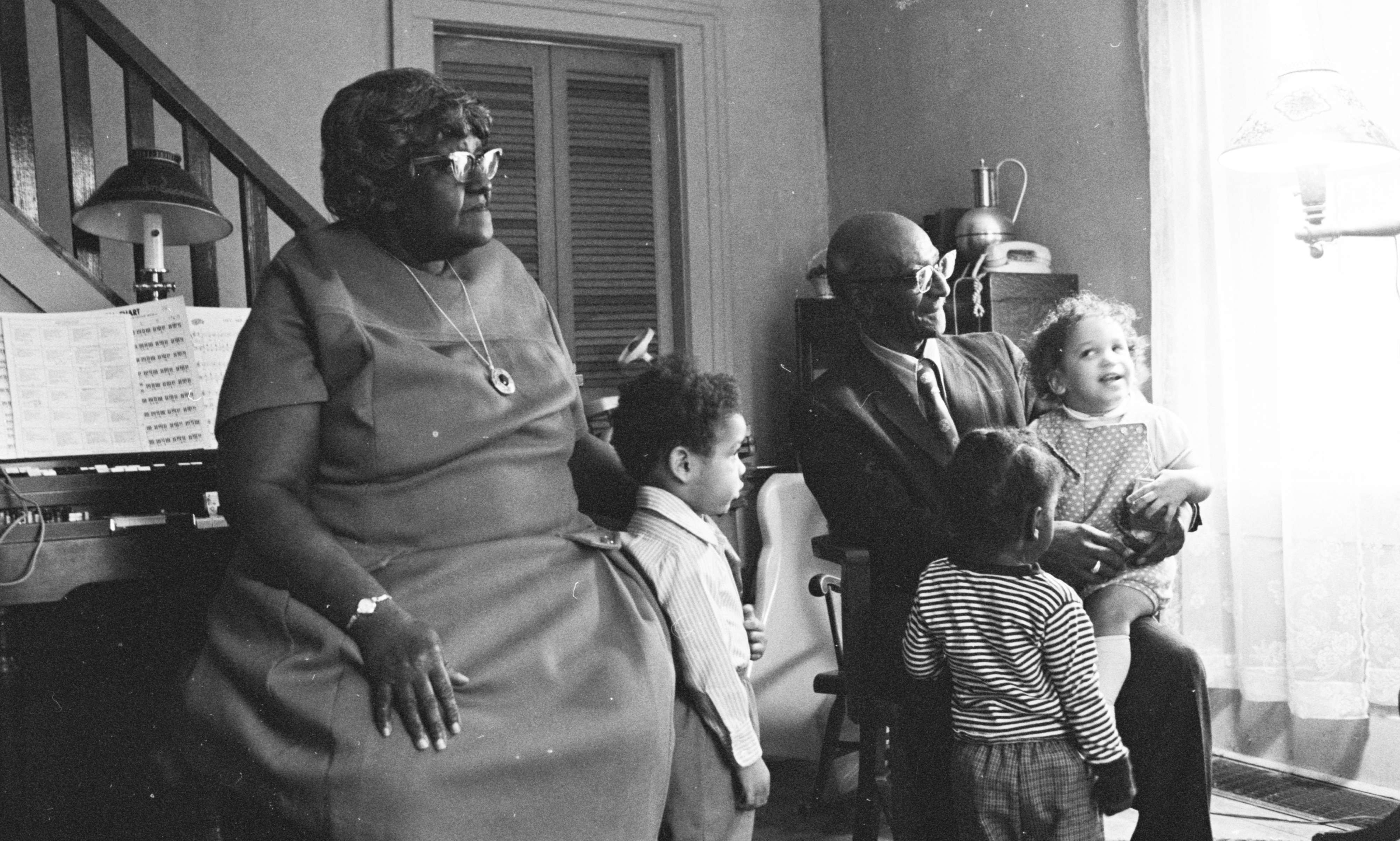 Evelyn & William Bailey With Foster Children, March 1972 image