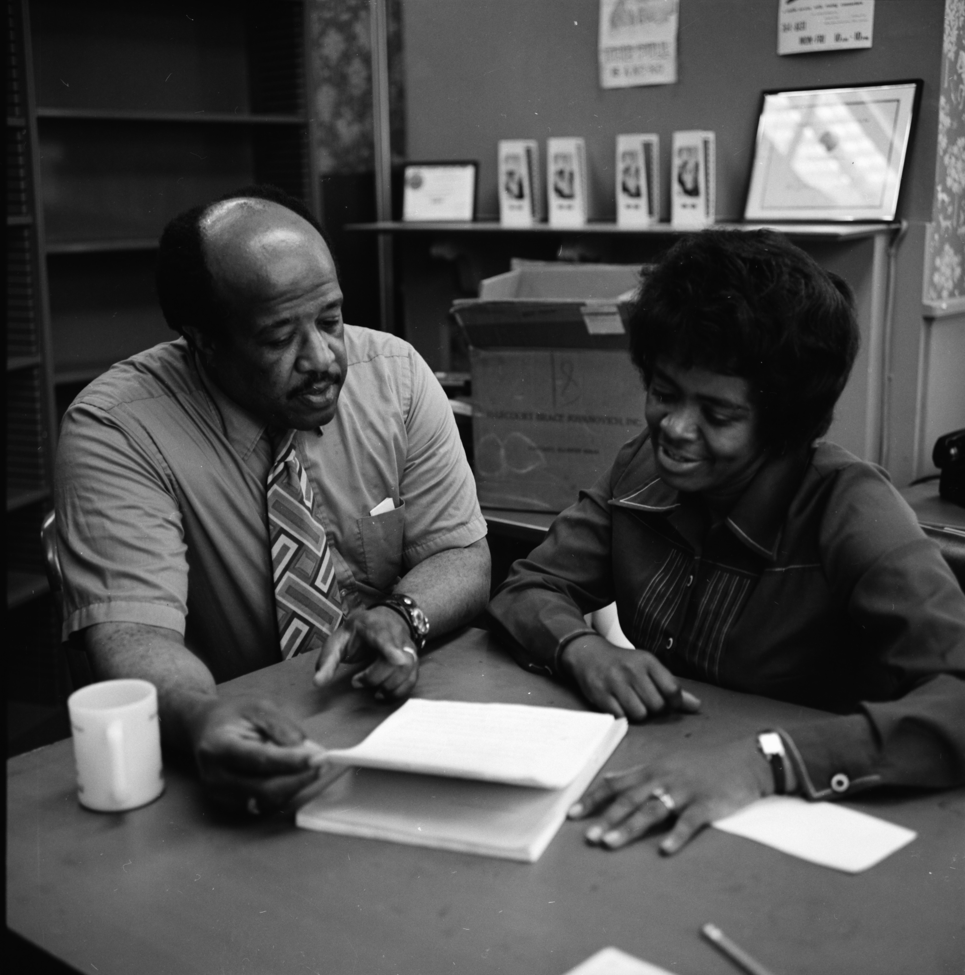 Social Workers Howard Brabson and Barbara Meadows Discuss Day Care, June 1972 image