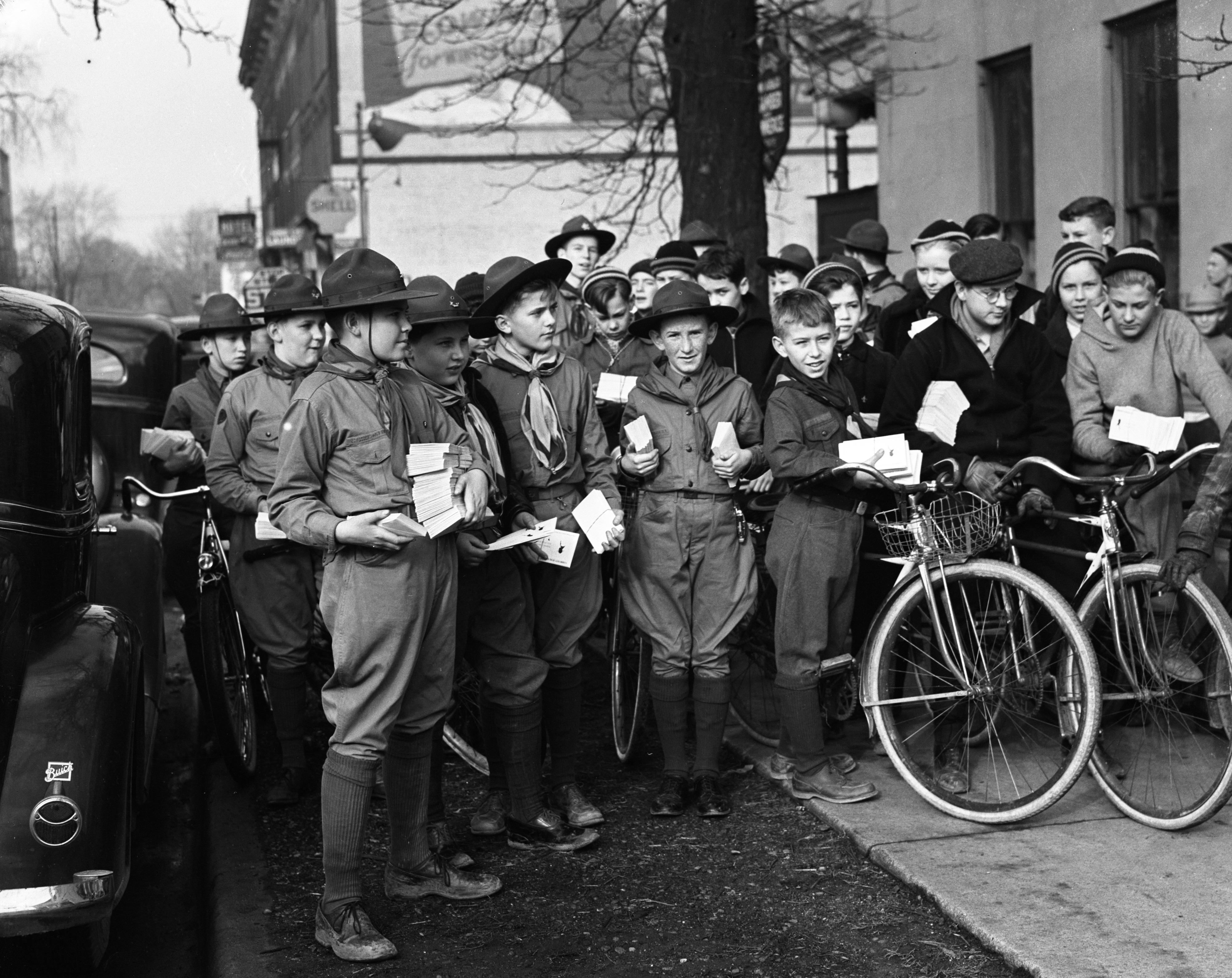 Community Fund Delivery by Boy Scouts, March 6, 1937 image