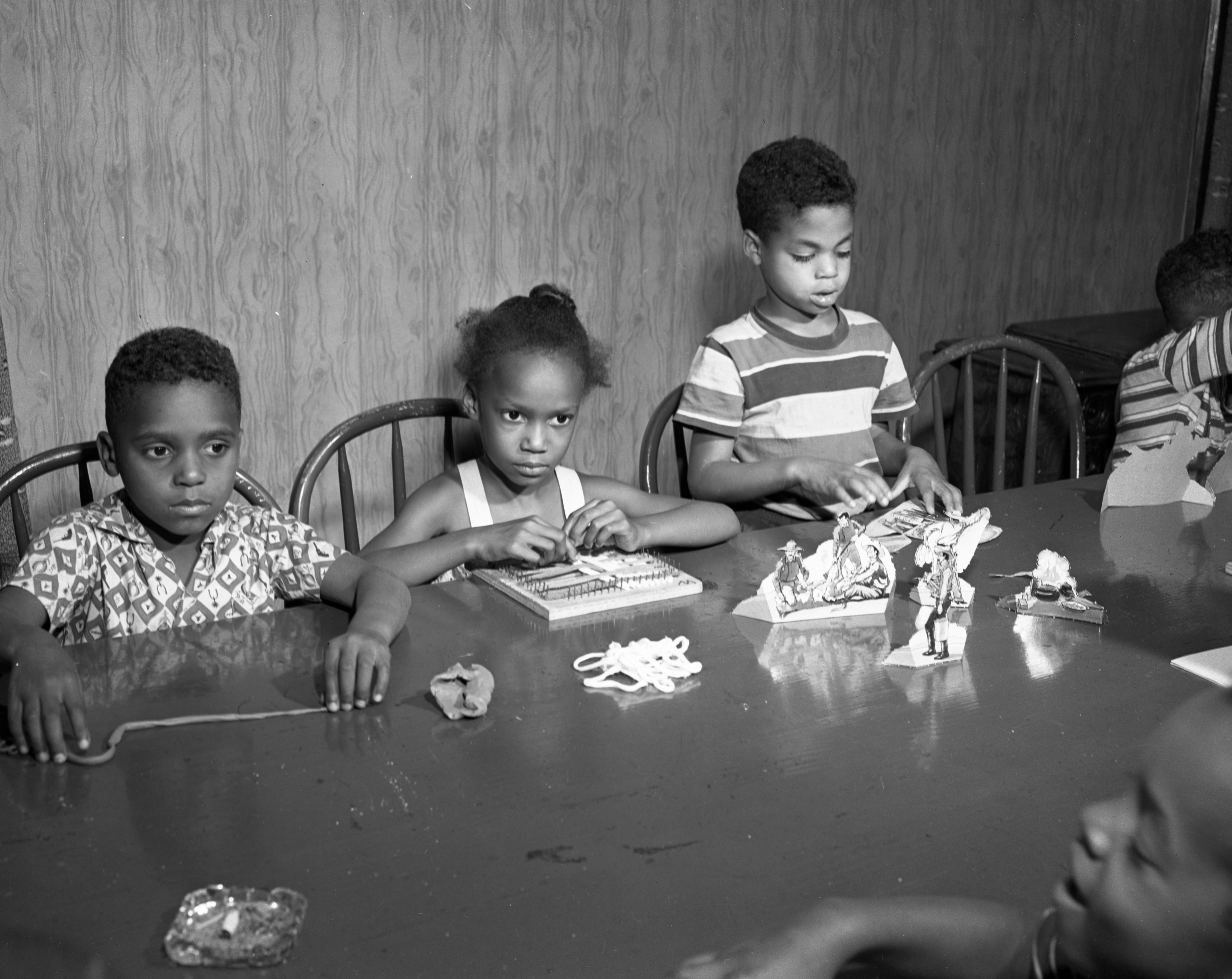 Craft Projects Popular At Dunbar Center Summer Day Camp July 1951
