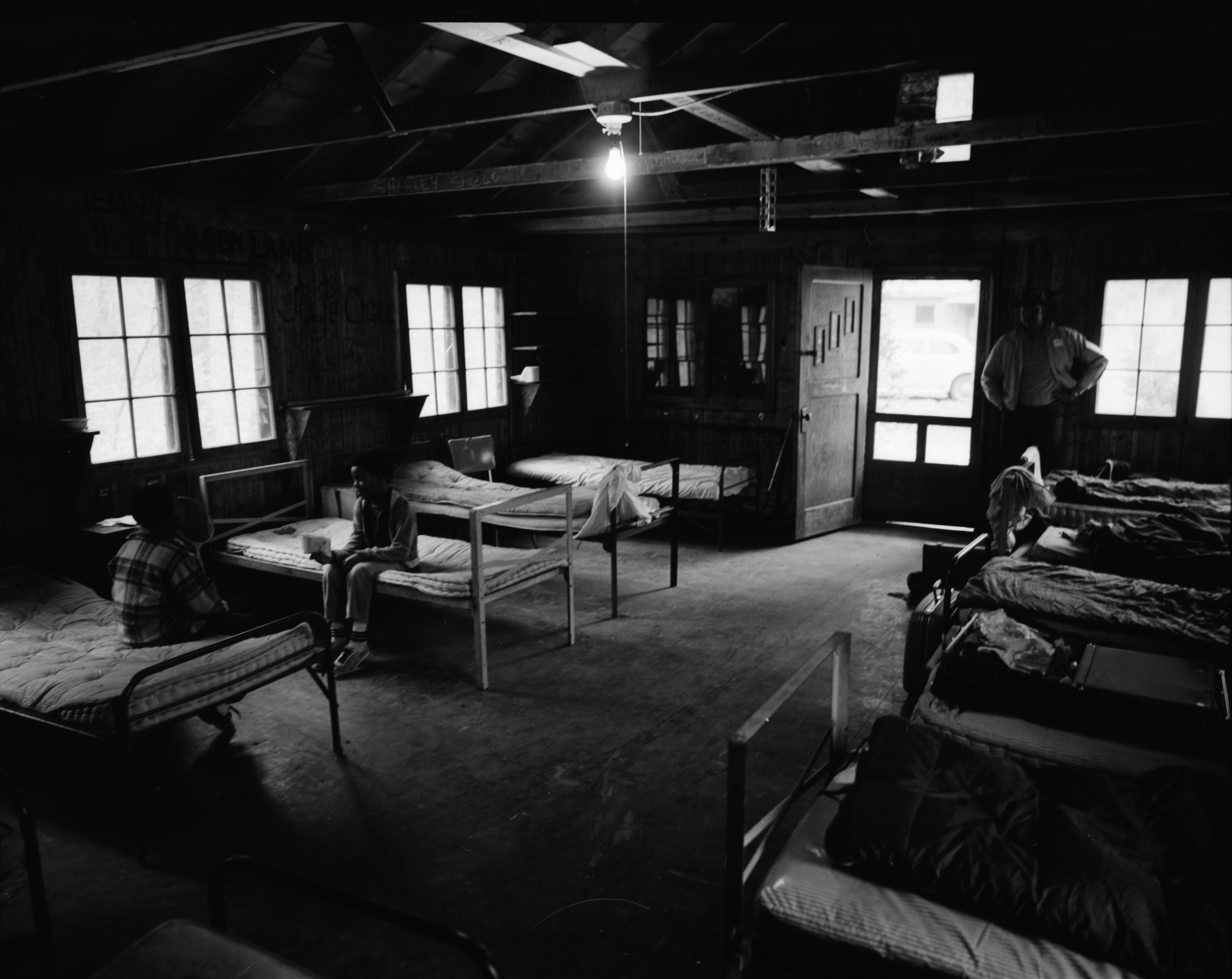 Interior View of Bunks in Cabin at the Ann Arbor Community Center's Camp Takona, June 1972	 image