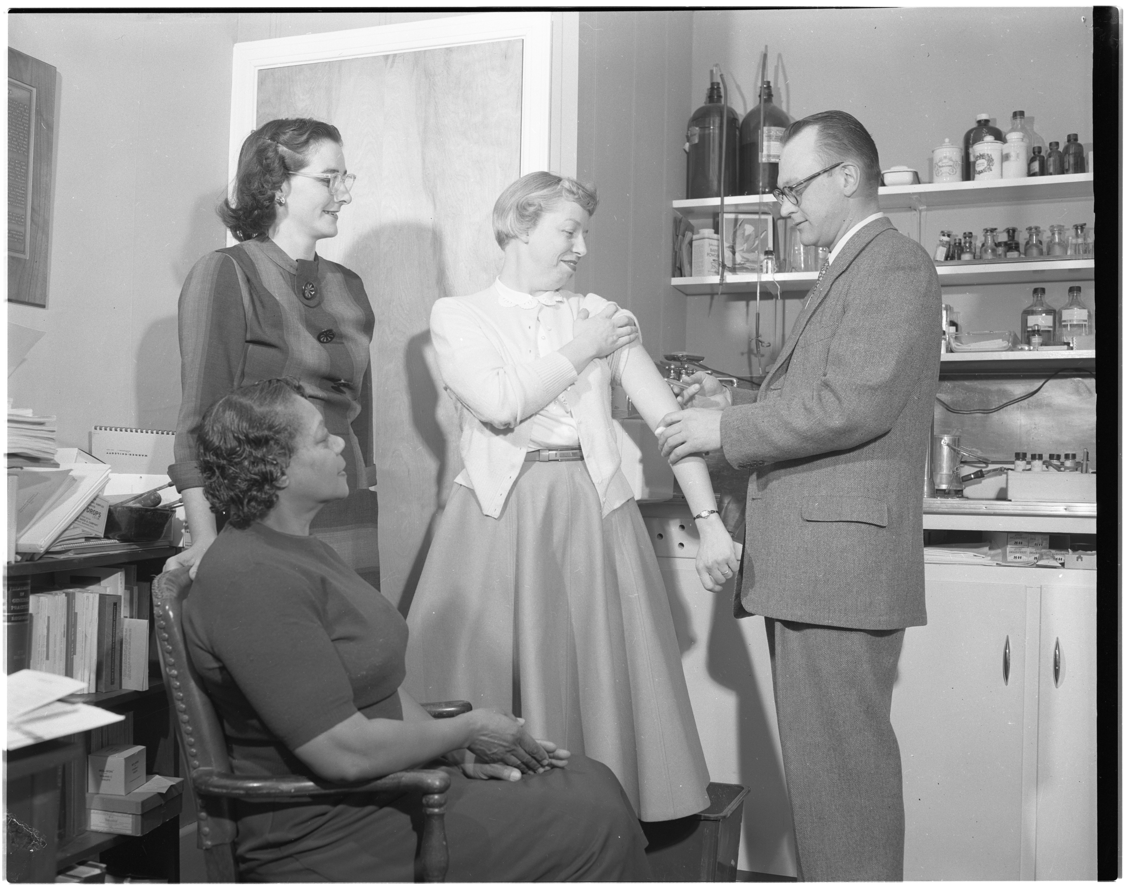 Mothers' March on Polio Volunteers Receive Salk Vaccine, January 1957 image