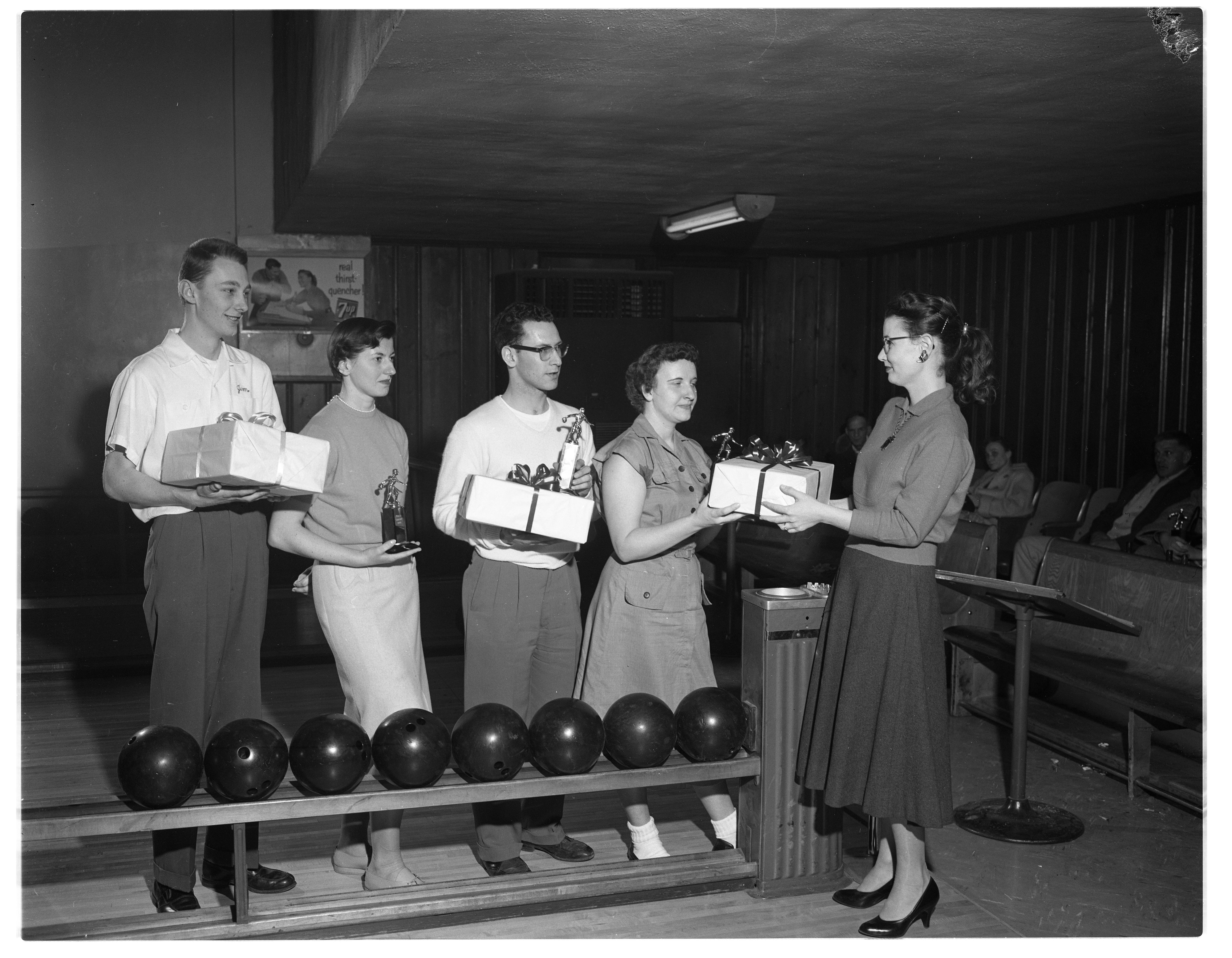 Local Winners in the National March of Dimes Bowling Tournament, February 1958 image