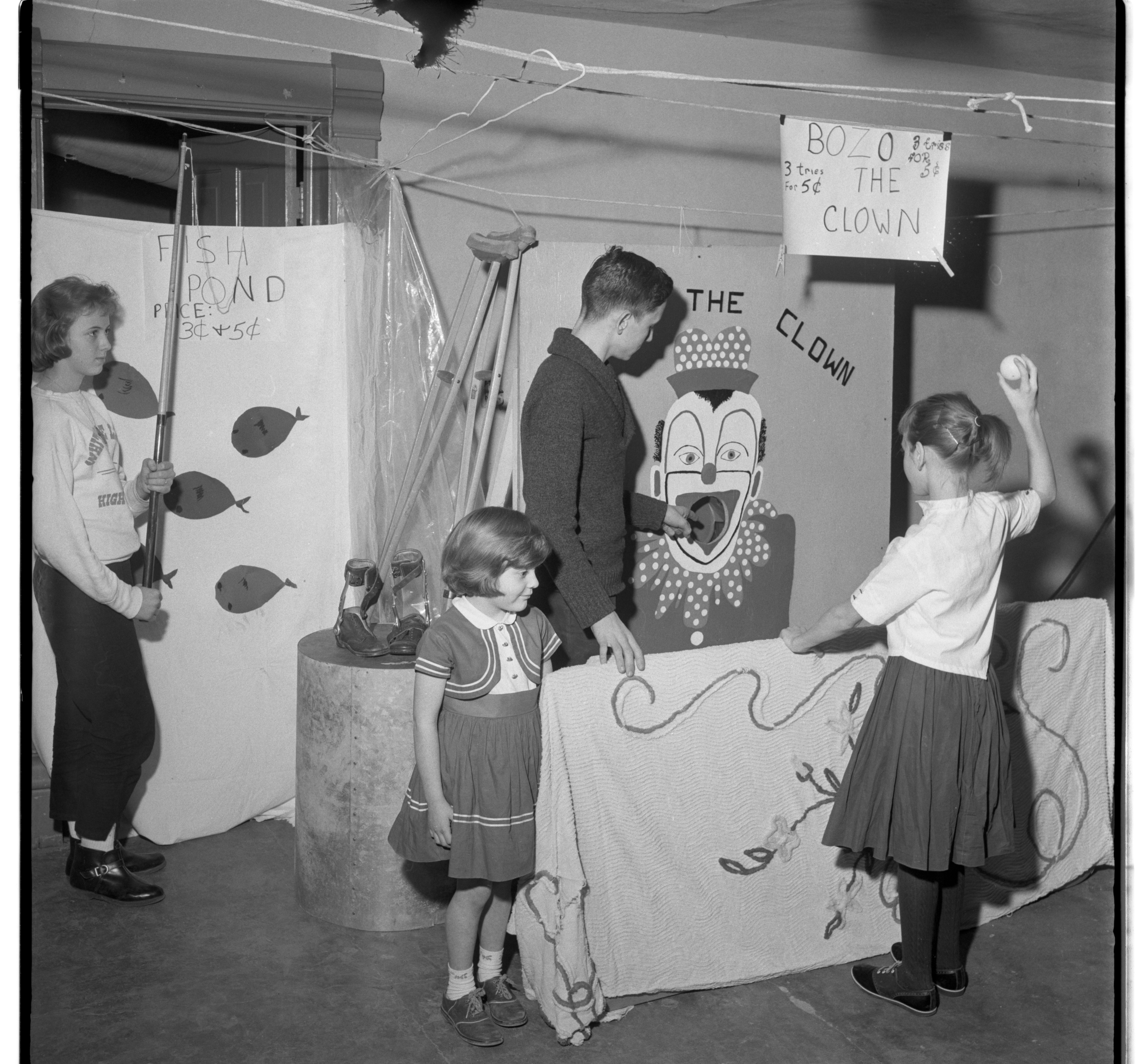 Euper Family of Whitmore Lake Sponsors Carnival for March of Dimes Campaign, January 1962 image