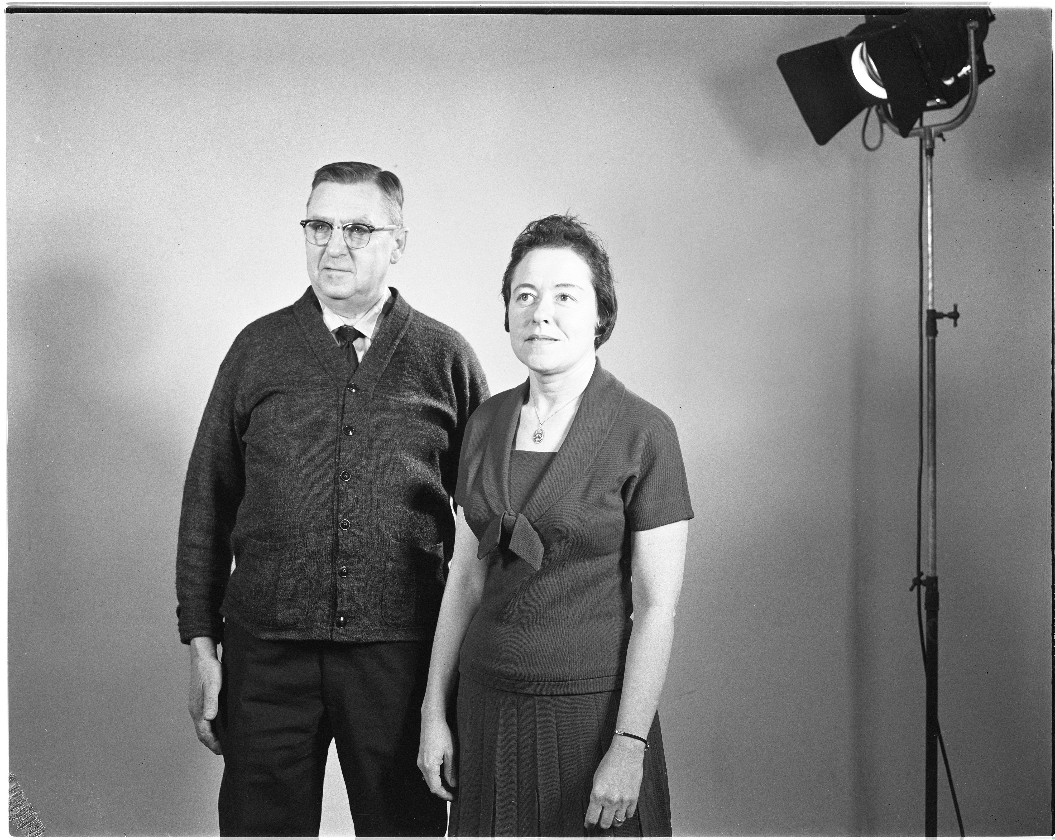 Portrait of Glen Ridenour and Odes Elden, Muscular Dystrophy Drive Heads, March 1965 image