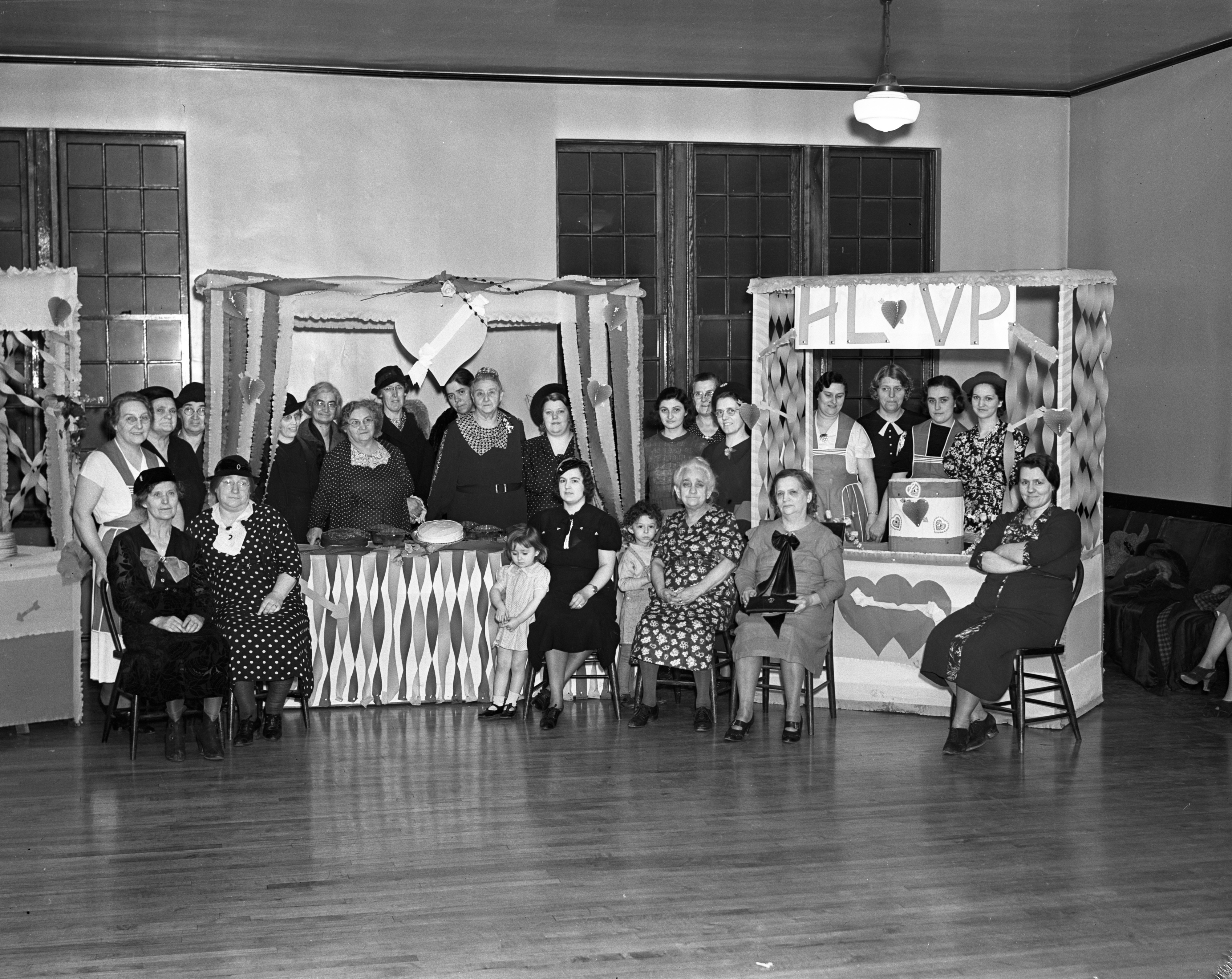 Salvation Army Ladies Auxiliary Valentine Party, February 1938 image