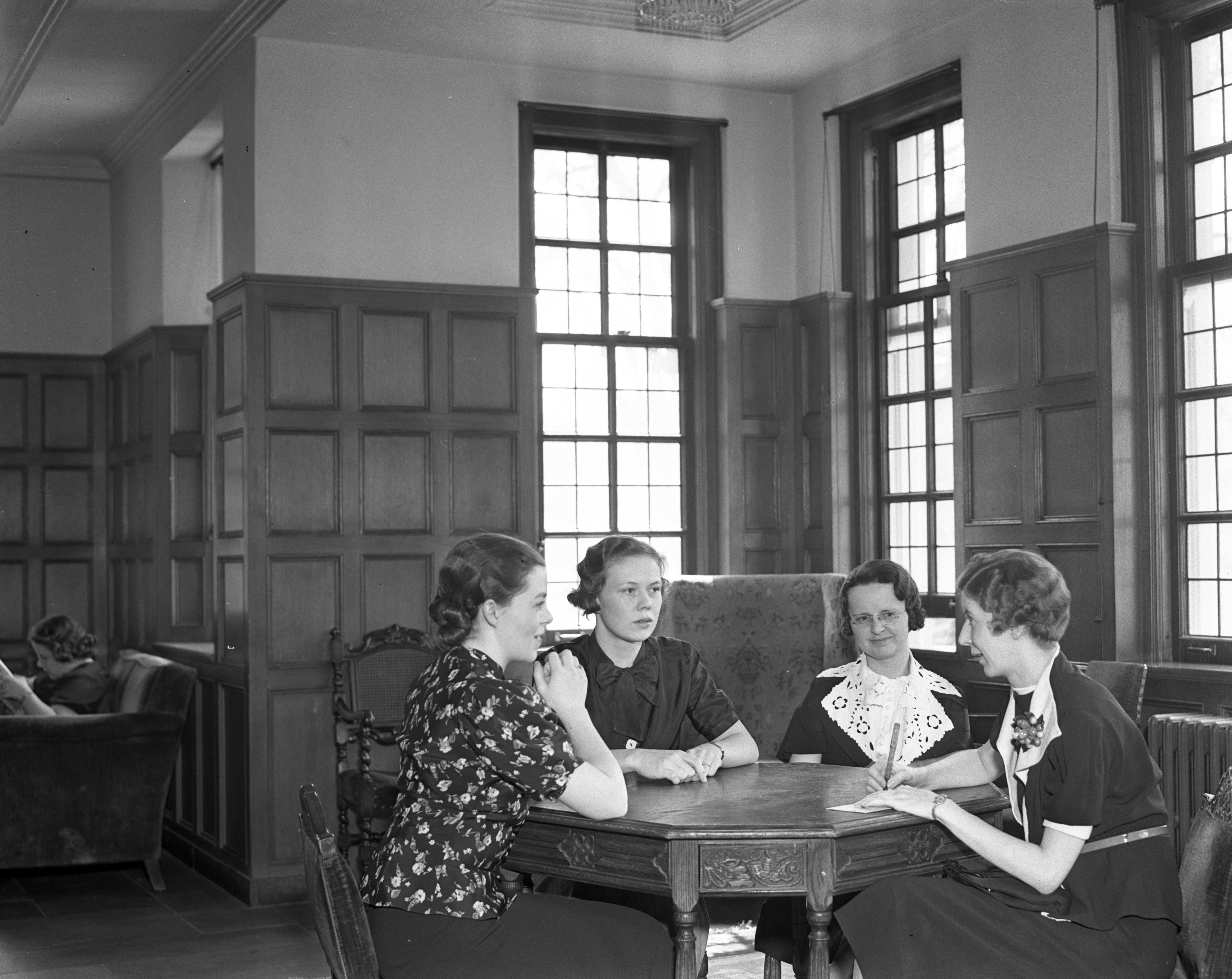 Local Members Of Alpha Gamma Delta Sorority Plan To Celebrate International Reunion Day, April 1937 image