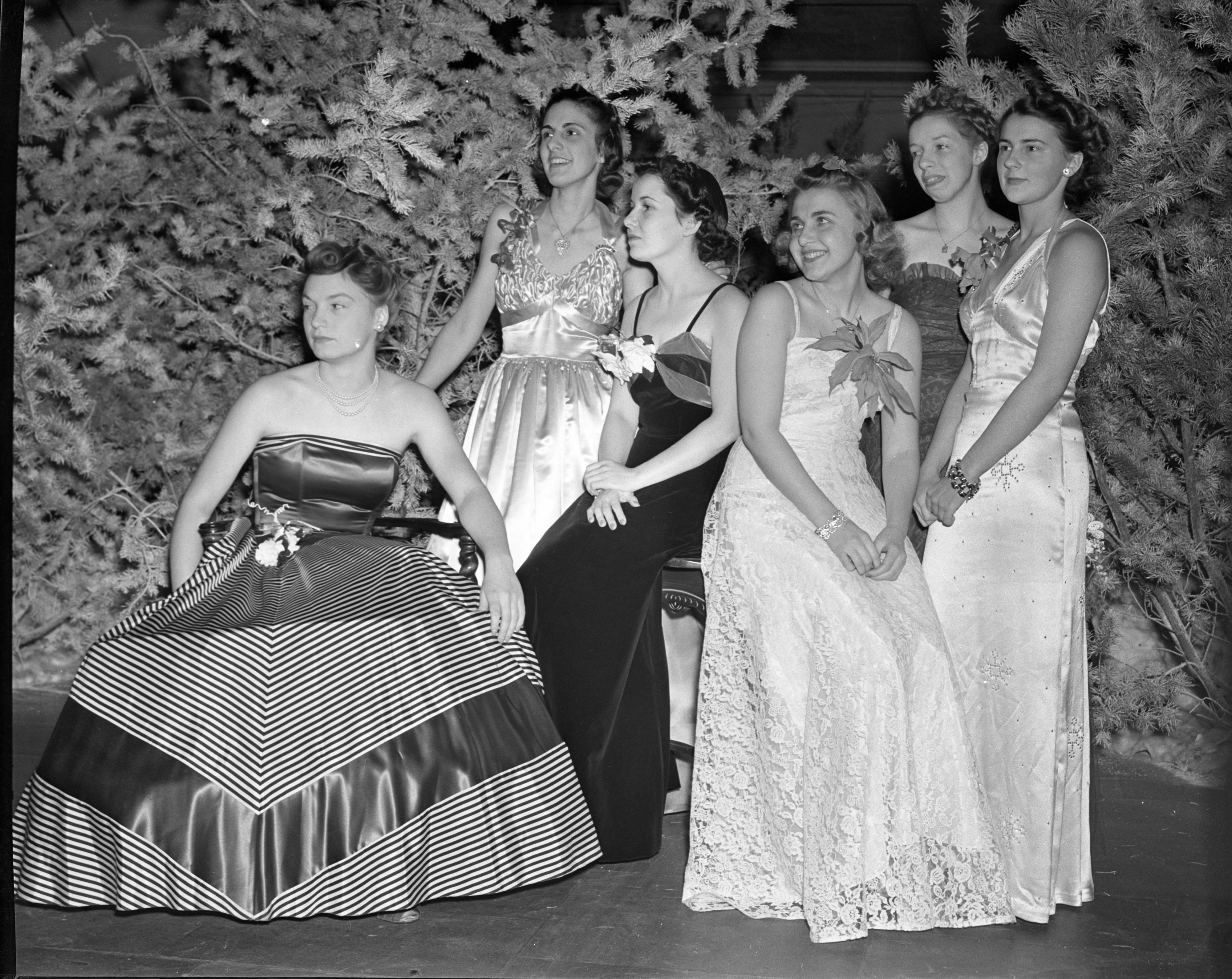 Holiday Dance Hostesses, December 1938 image