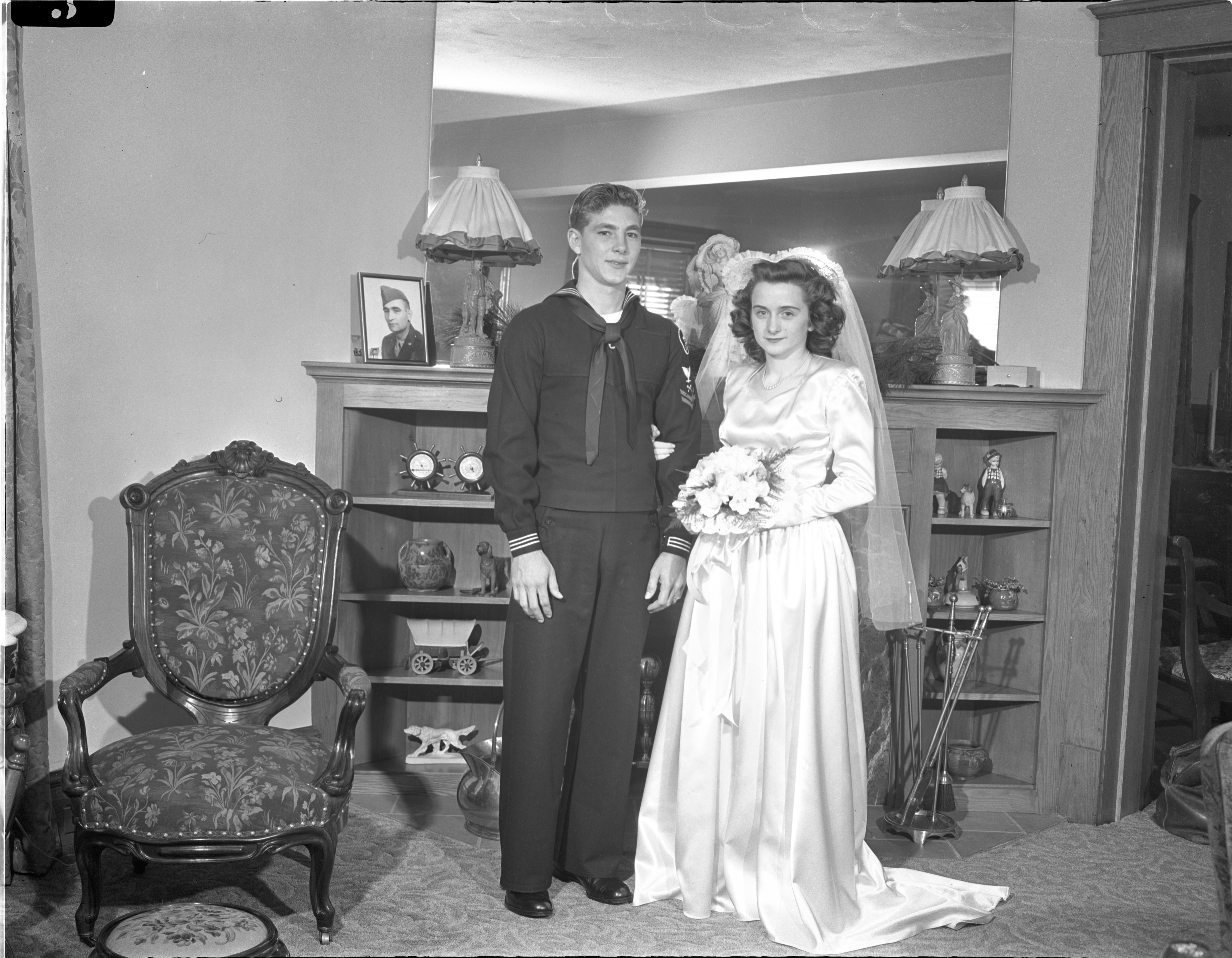 Newly Married Walter & Patricia Bartell - December 15, 1945 image