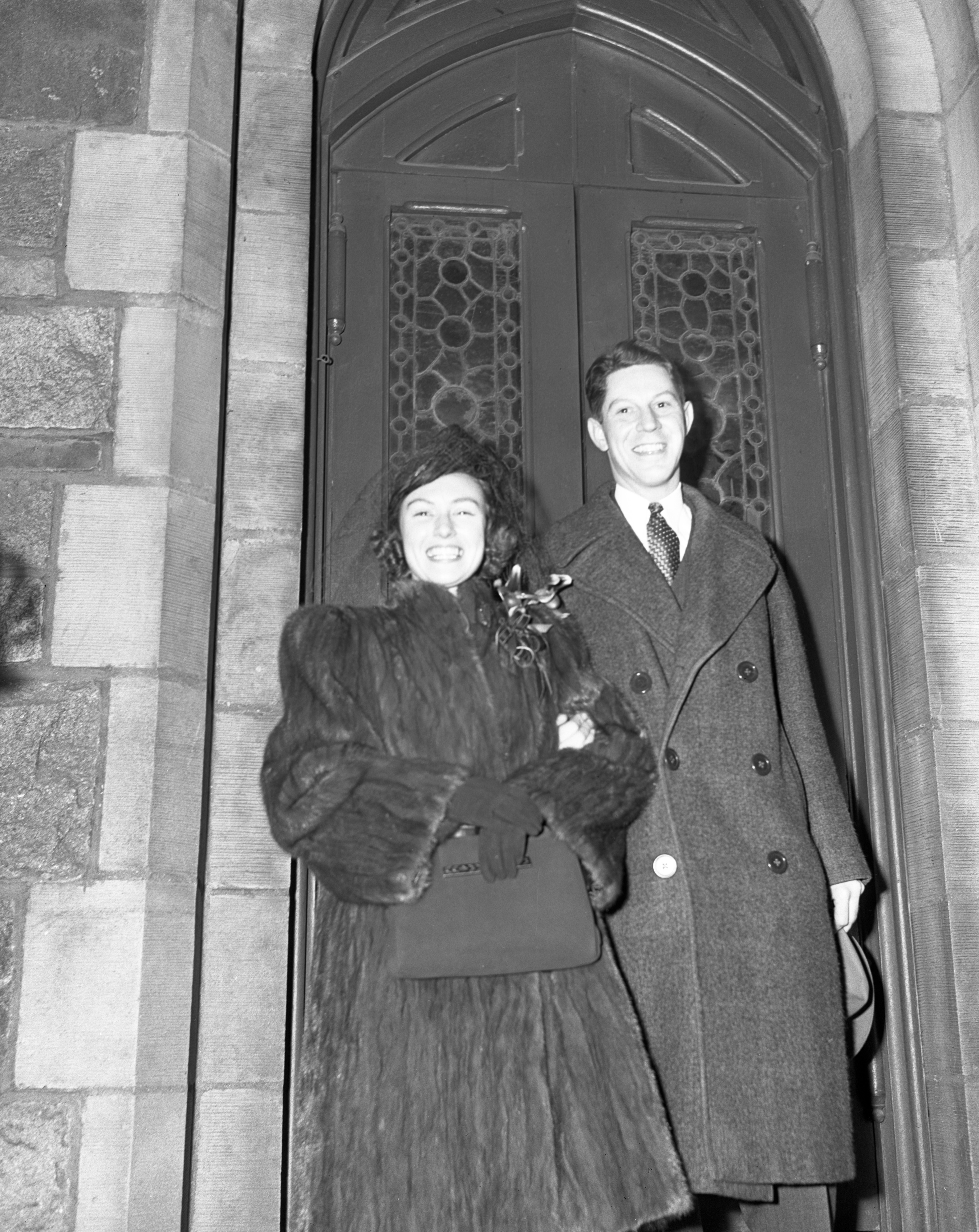 Just Married: Margaret Cowie & Dr. John D. Adcock, December 28, 1940 image
