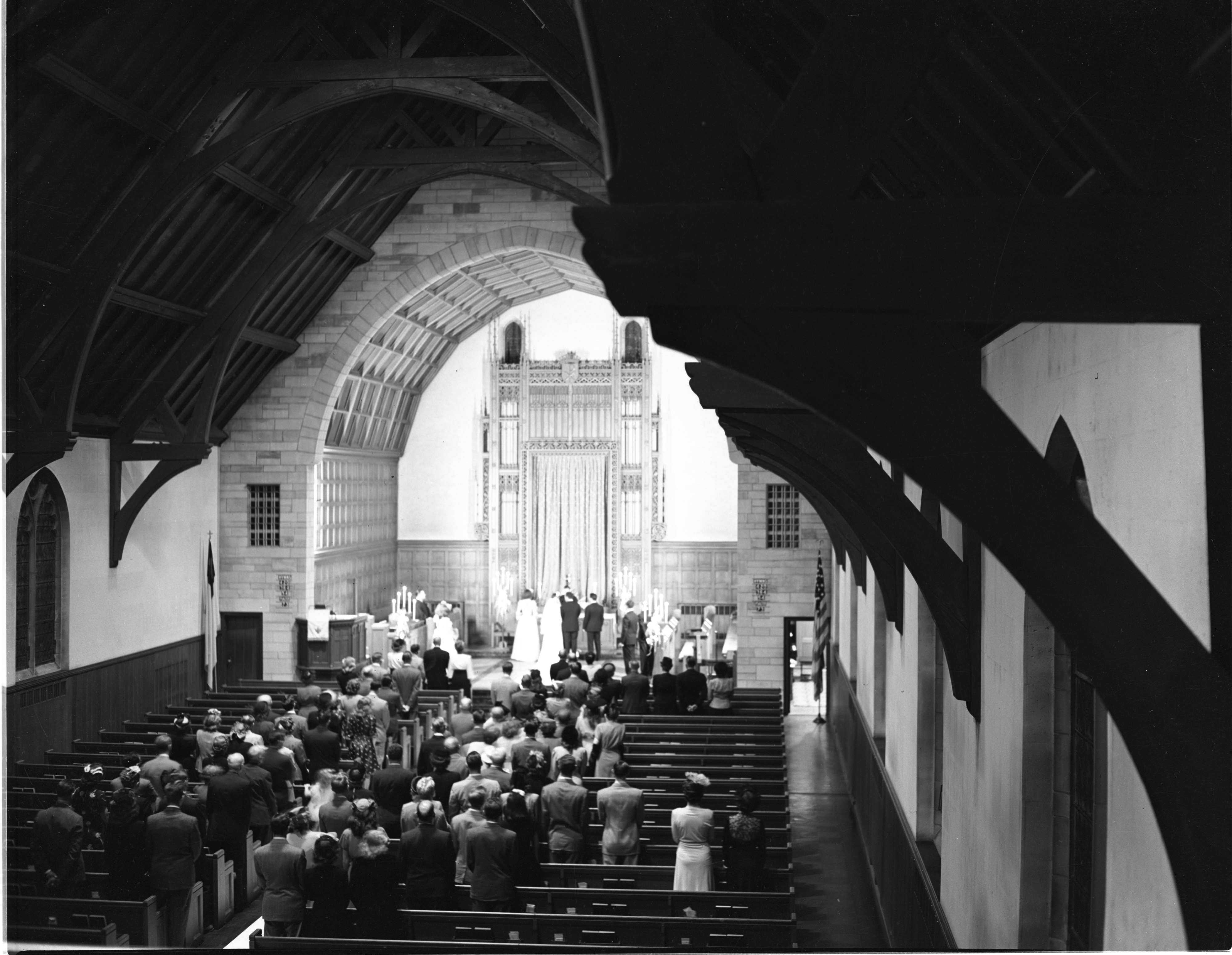Evening Wedding Of Dorothy Edgar & Alvin Bek At First Presbyterian Church - September 7, 1946 image