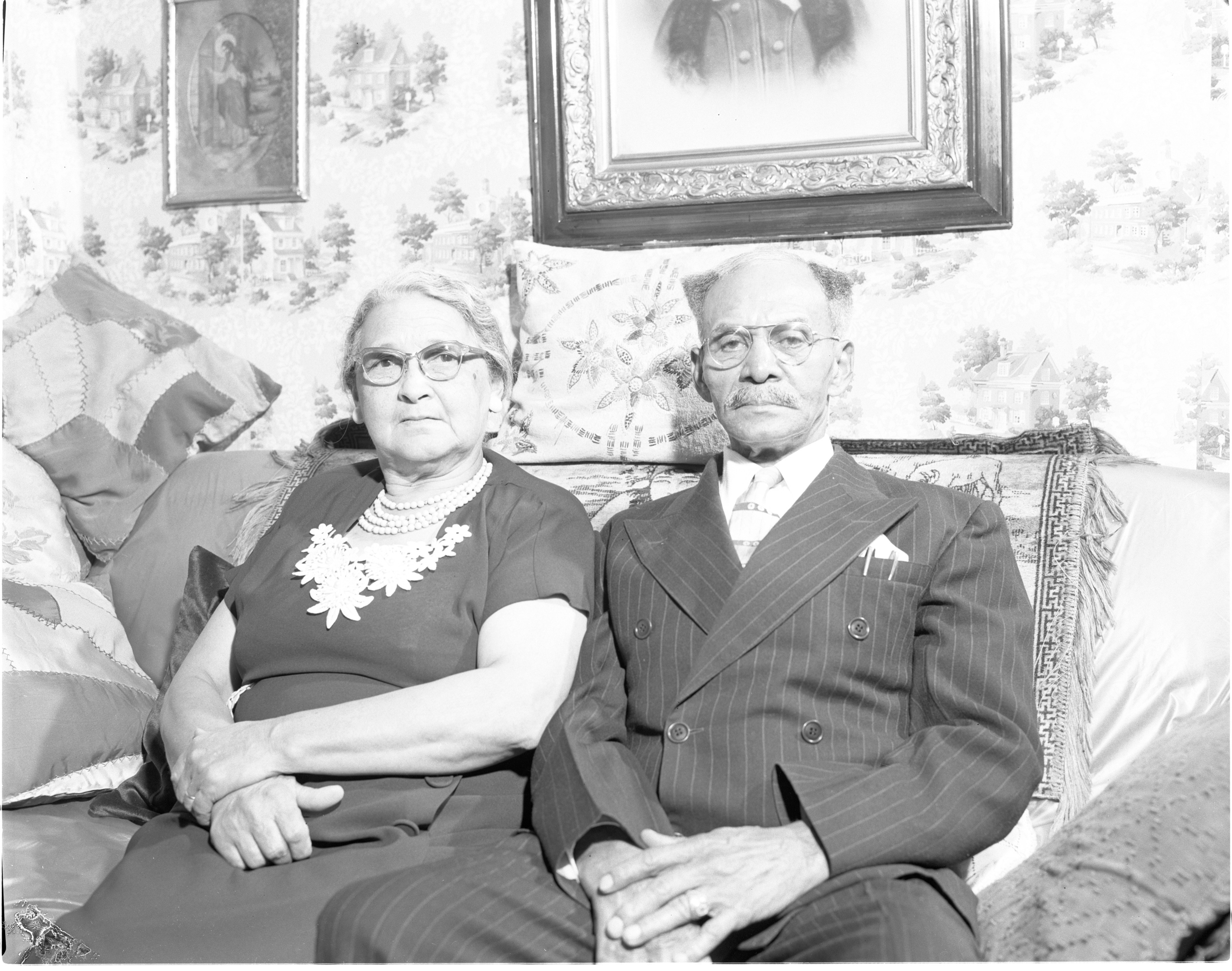 Sarah & Ozias Davis - Married 50 Years, October 1956 image