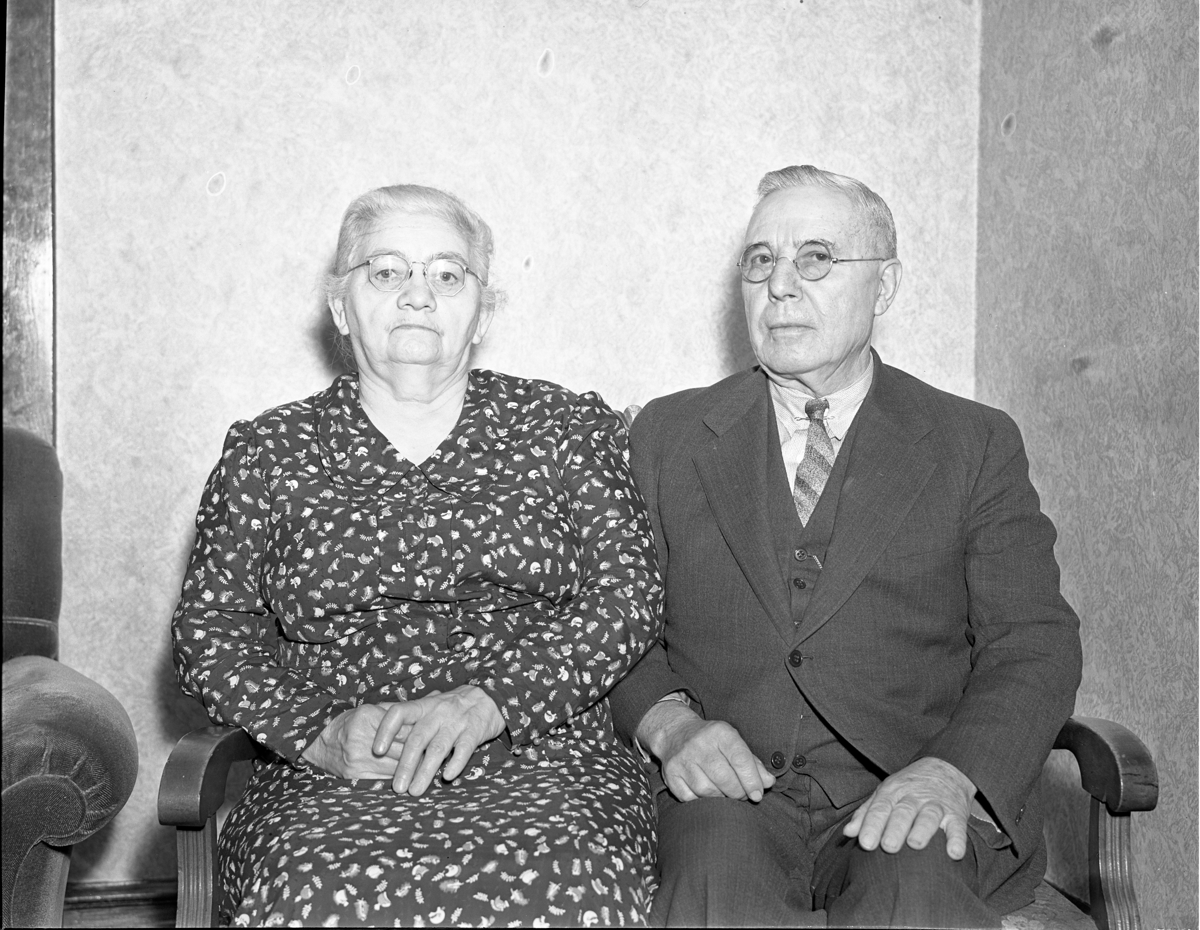 Otto & Amelia Rohn - Married 50 Years, February 1938 image
