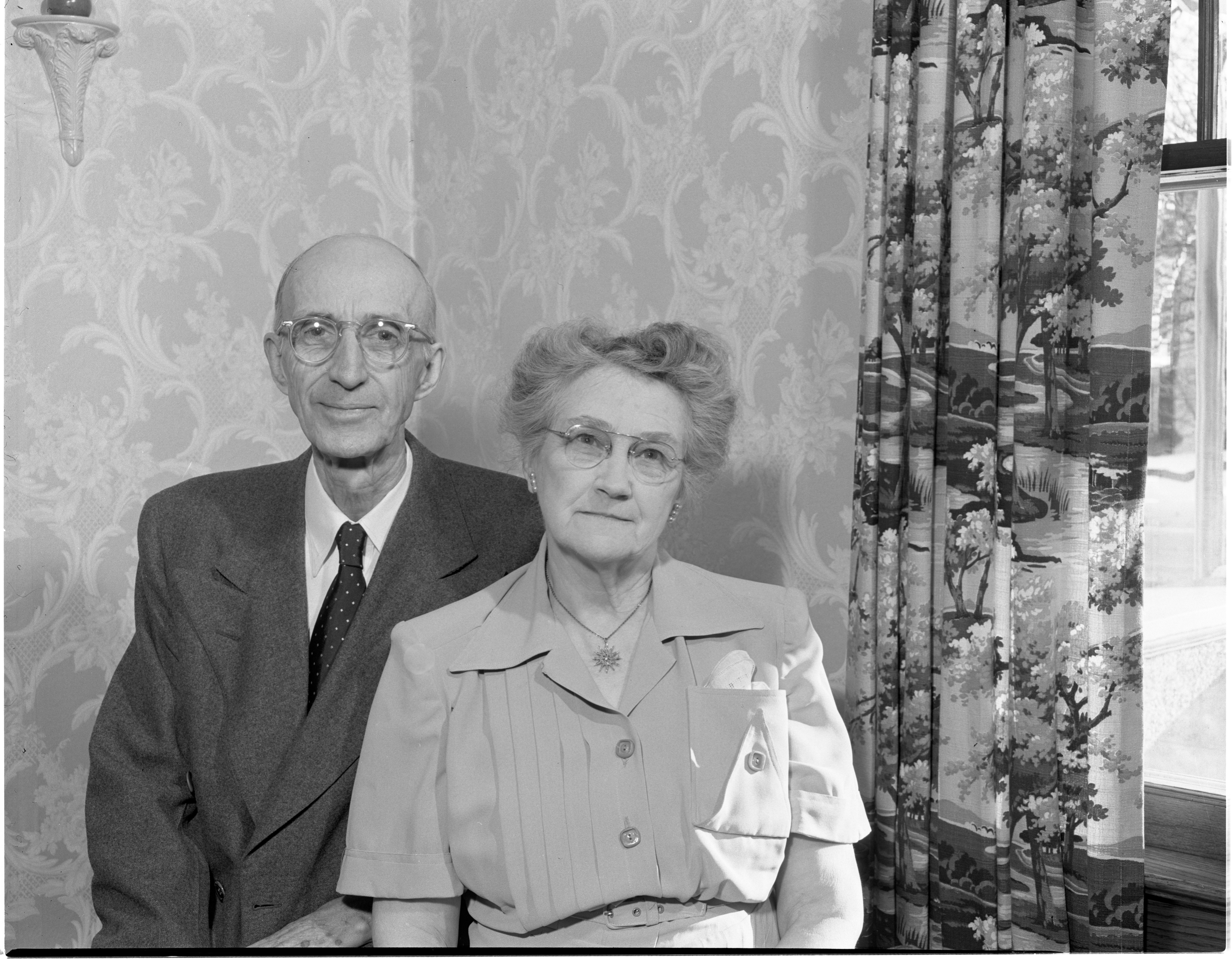 Eben & Mary Whipple - Married 50 Years, December 1950 image