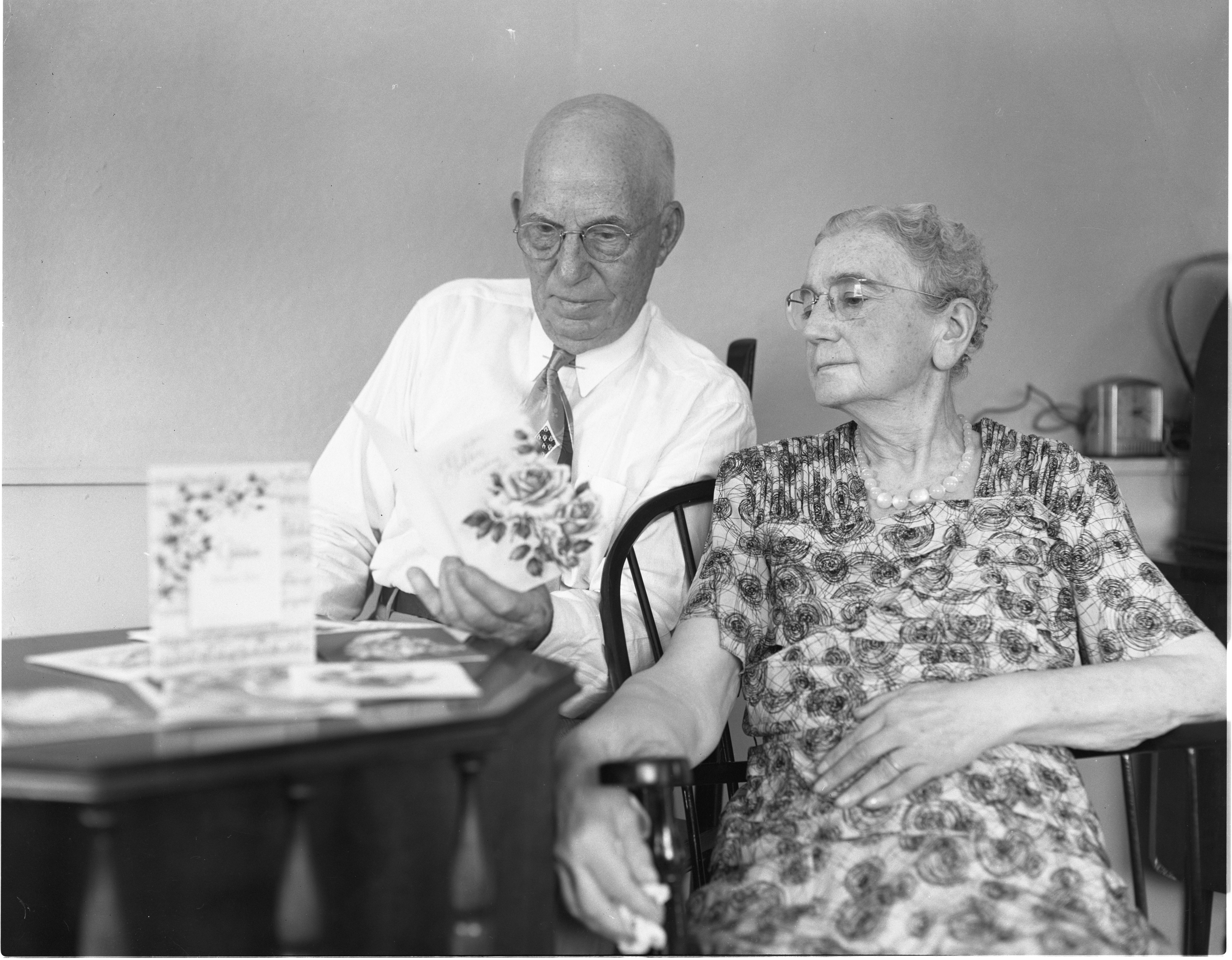 Mr. and Mrs. David Willits, July 1952 image