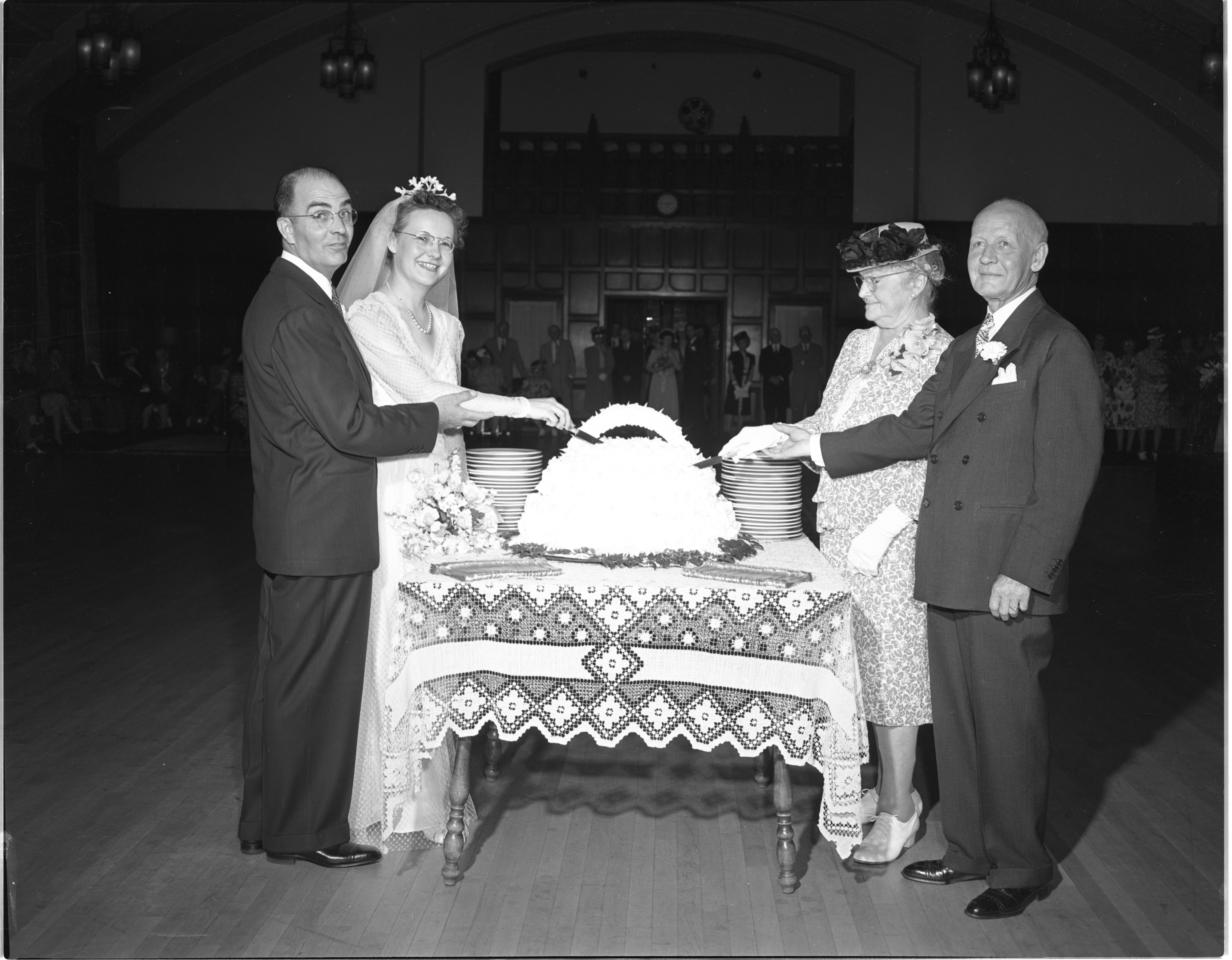 Hoffstetter-Youd Double Reception At The Michigan League - June 30, 1946 image