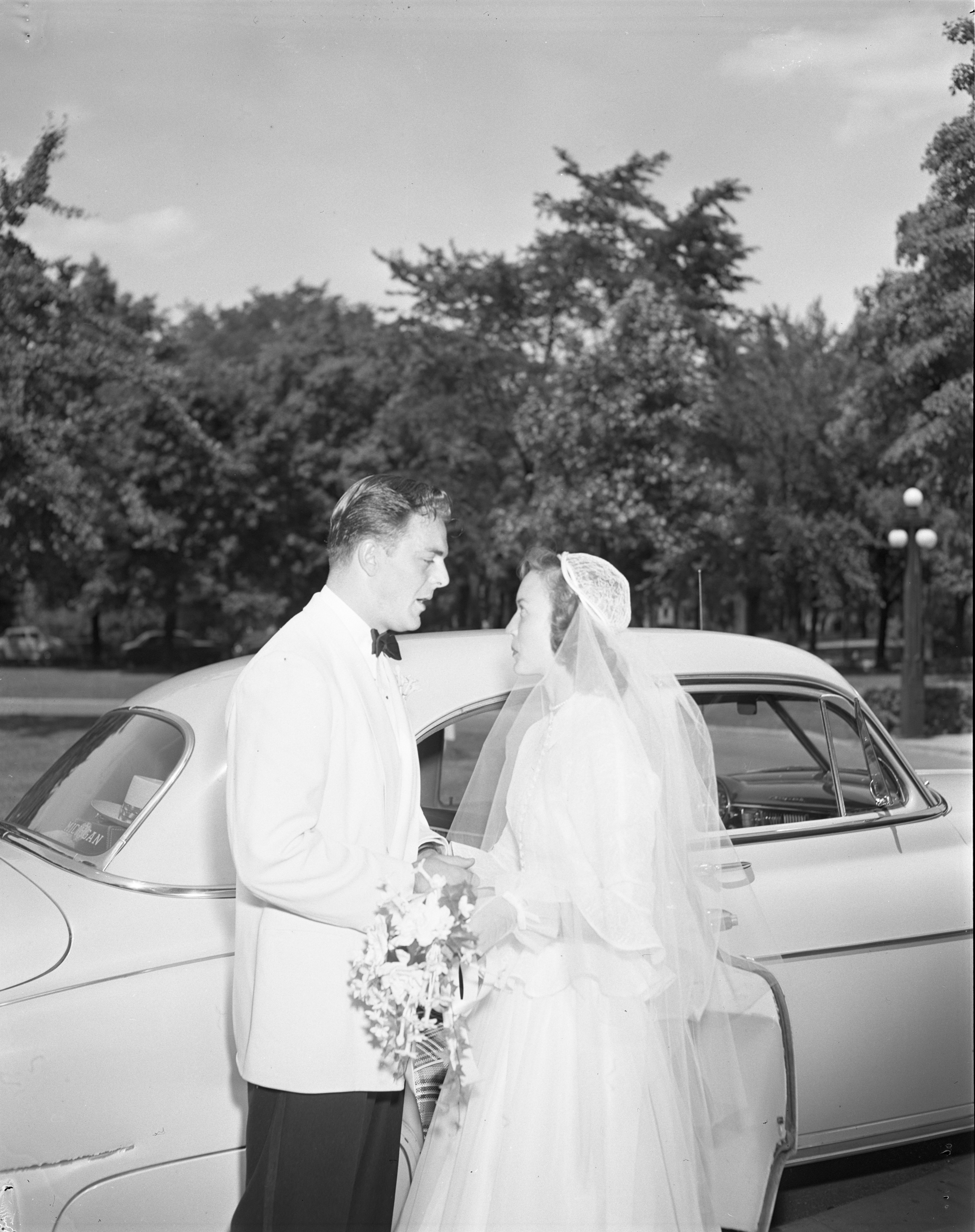 Dick Rifenburg & Ruth Martini On Their Wedding Day - July 1, 1950 image