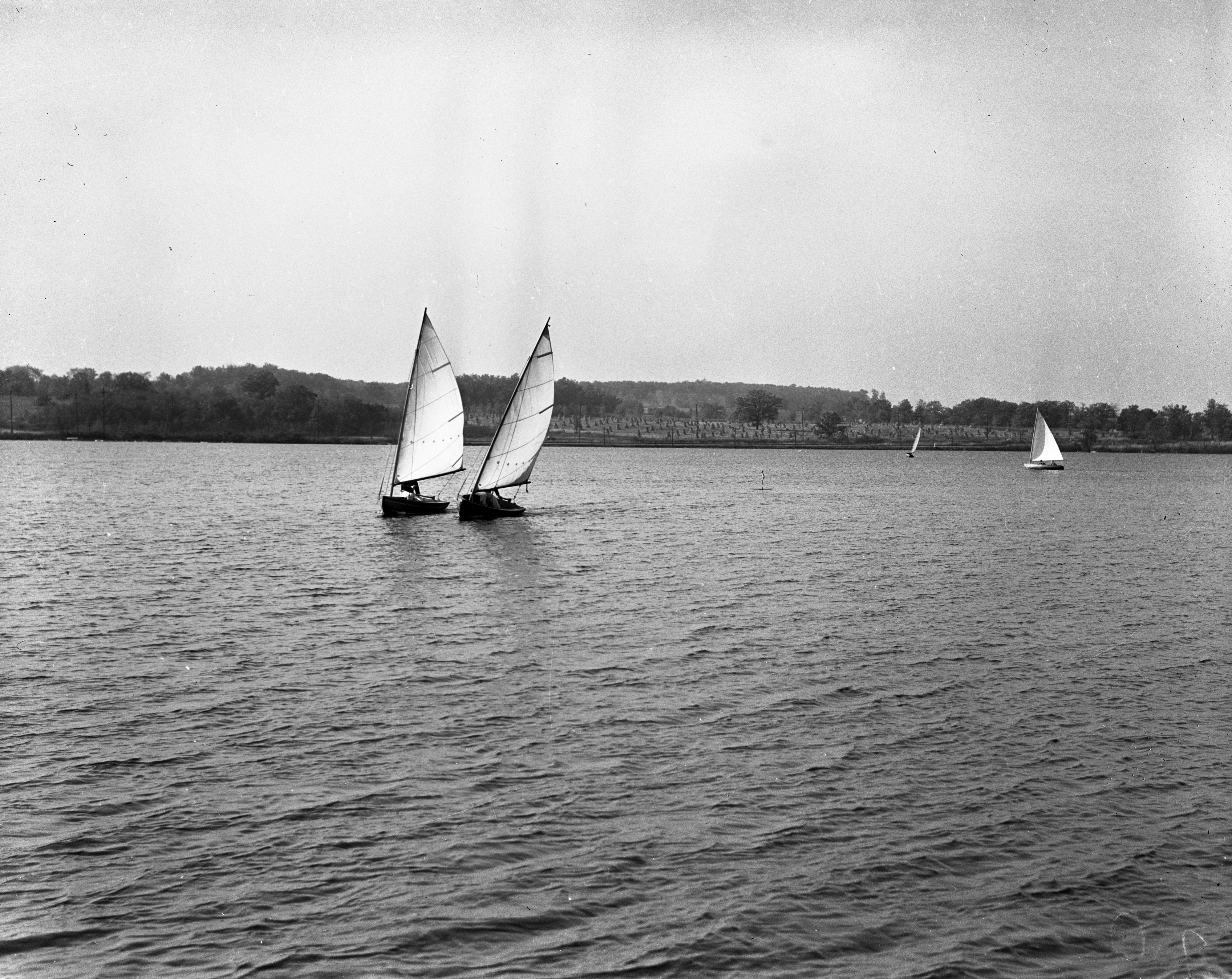 Barton Boat Club Catboat Race On Barton Pond, 1937 image