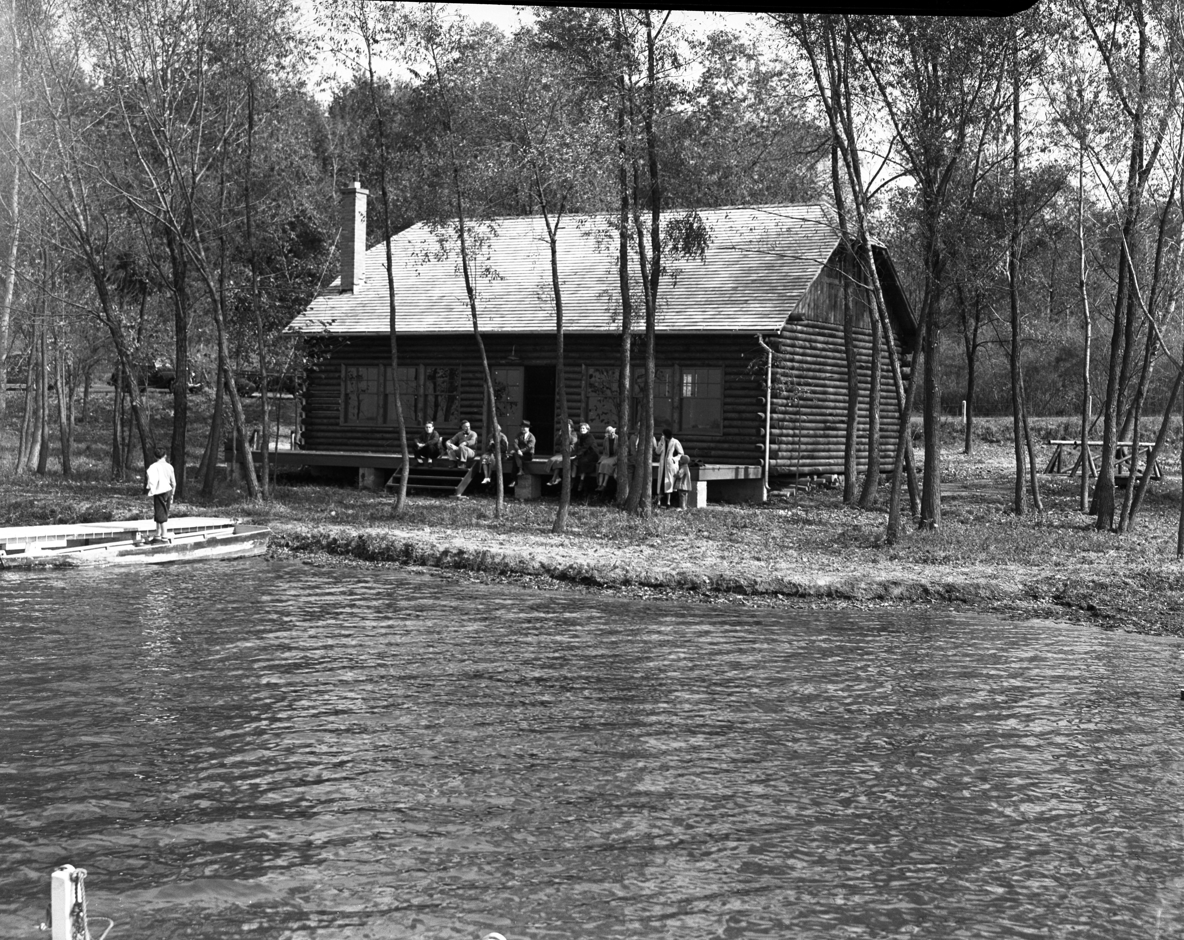 Barton Boat Club Boathouse, 1937 image