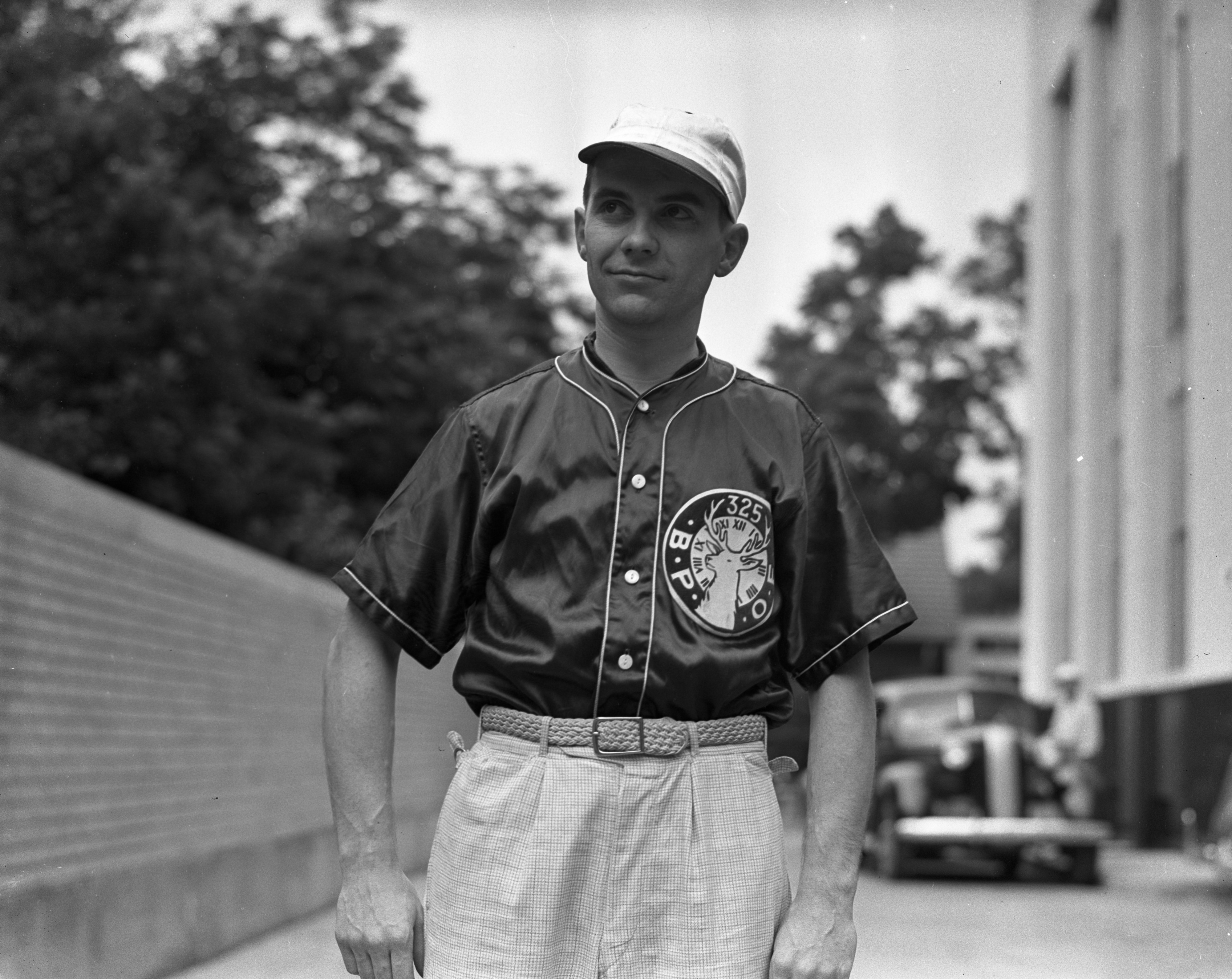 Earl Bradshaw of the Elk's Softball Team, and an Ann Arbor City All-Star, September 1937 image