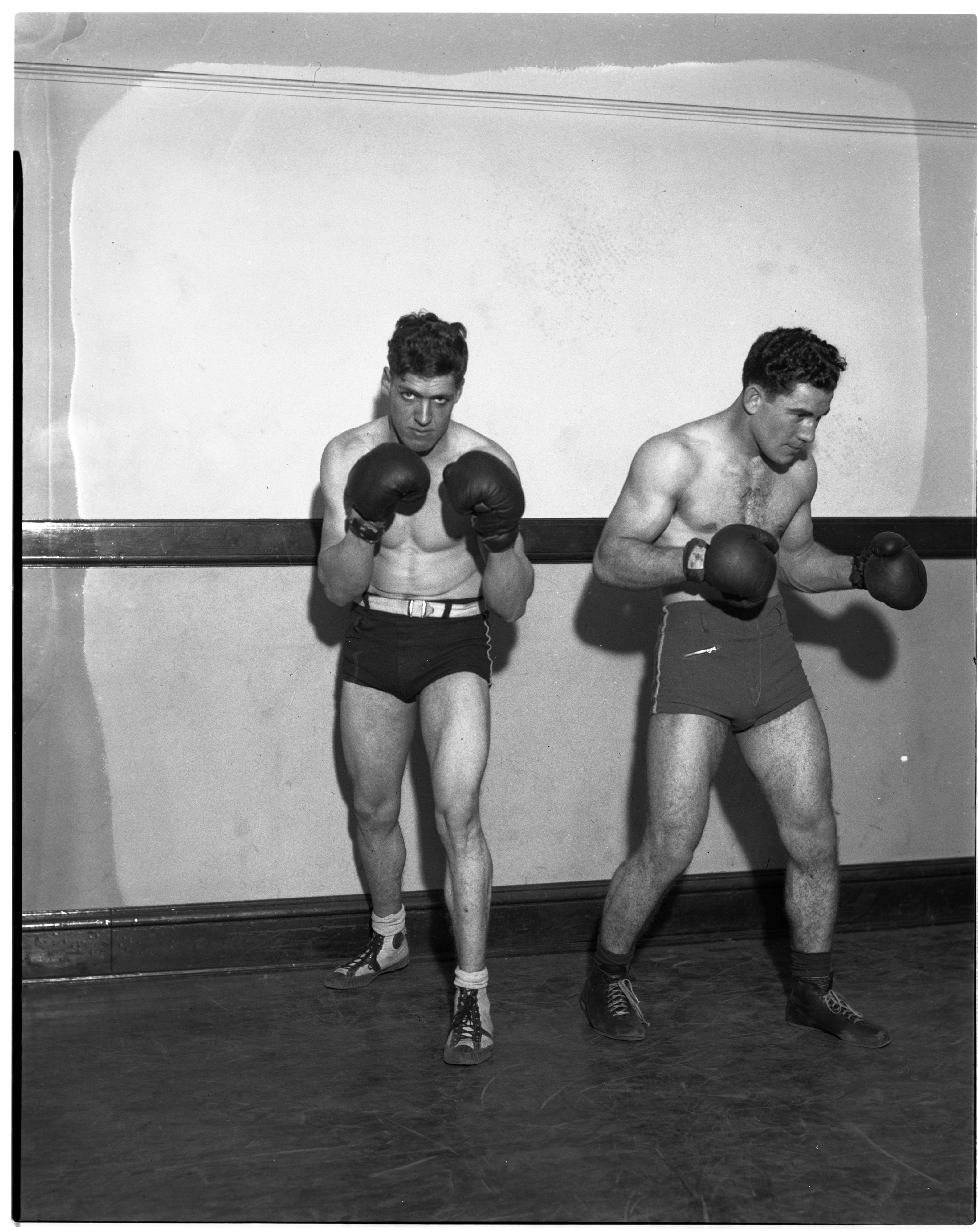 Harold Fox and Casper Grammatico, Golden Gloves Boxing Tournament, January 1936 image