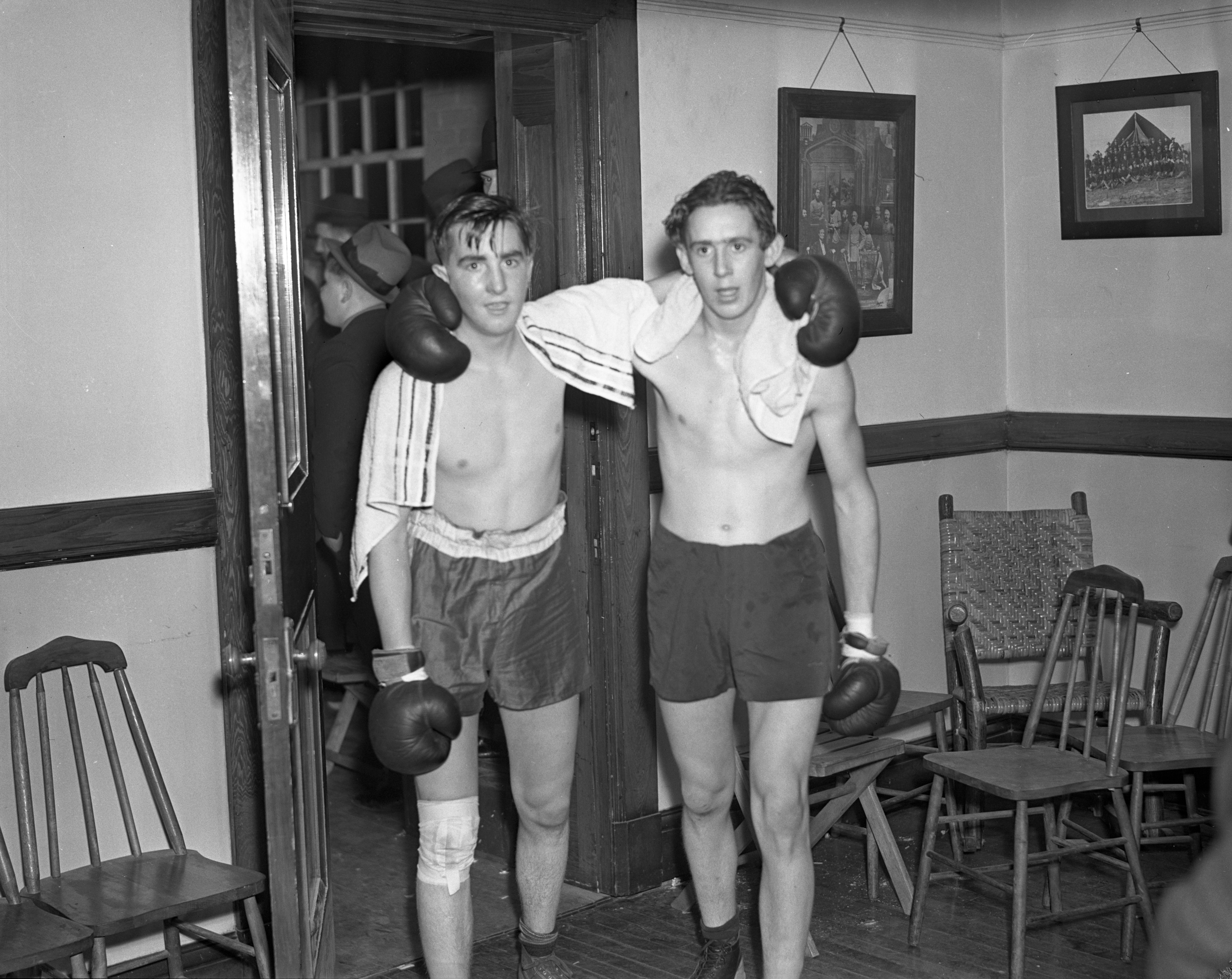 First Night at Golden Gloves Tournament, January 1938 image